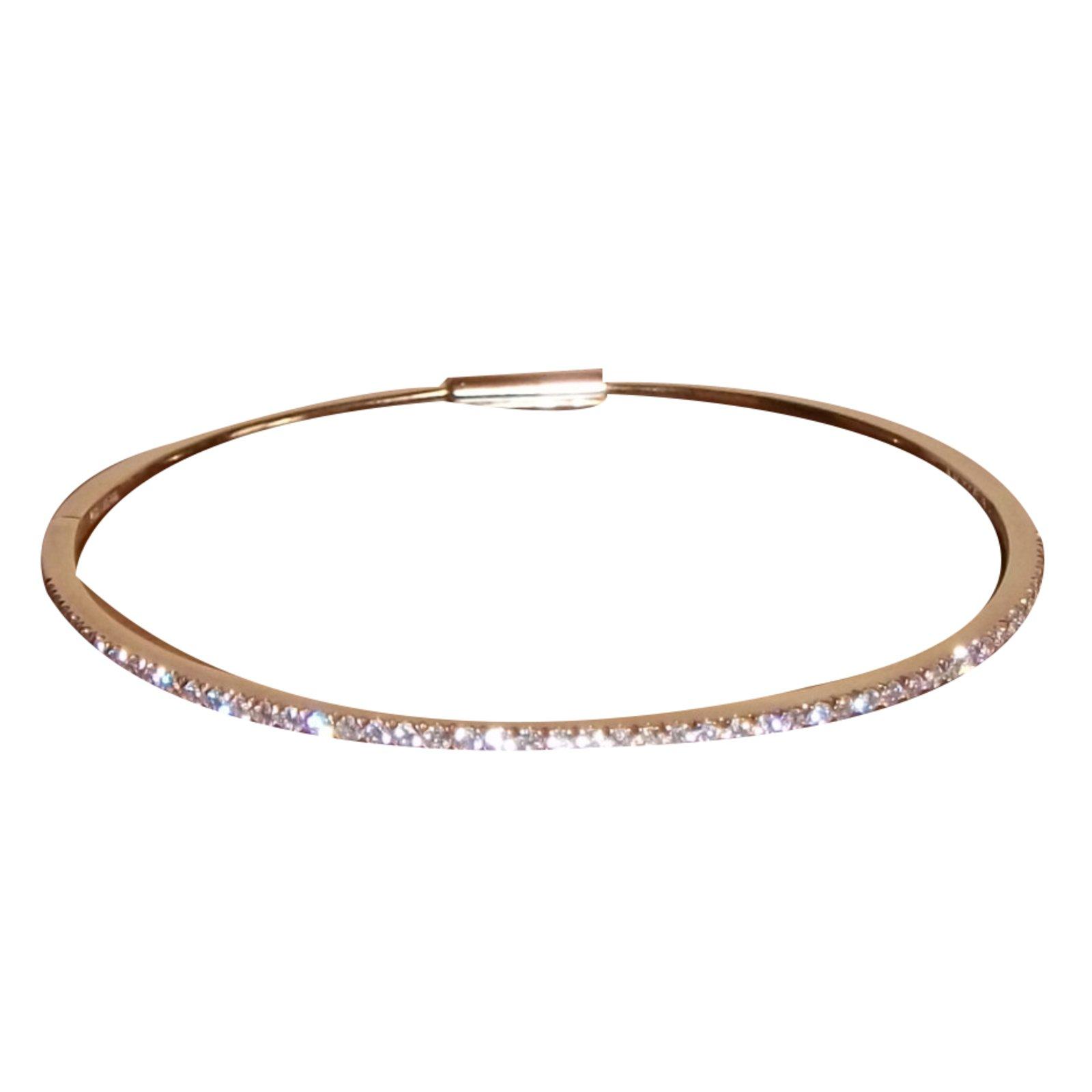bracelets messika bracelet or rose rose joli closet. Black Bedroom Furniture Sets. Home Design Ideas