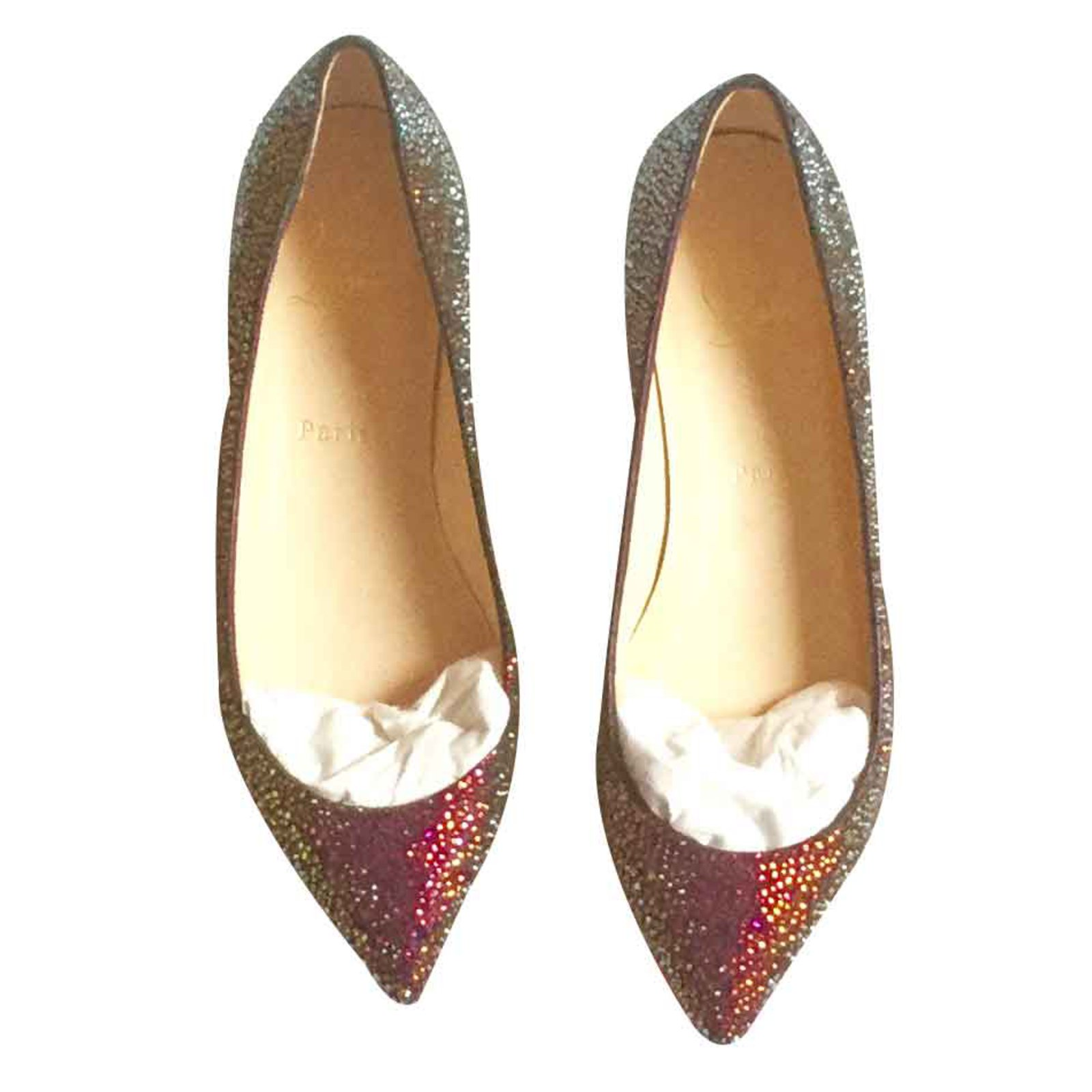 new product 369d1 eef83 Flats Vulcano Strass Crystal Gold