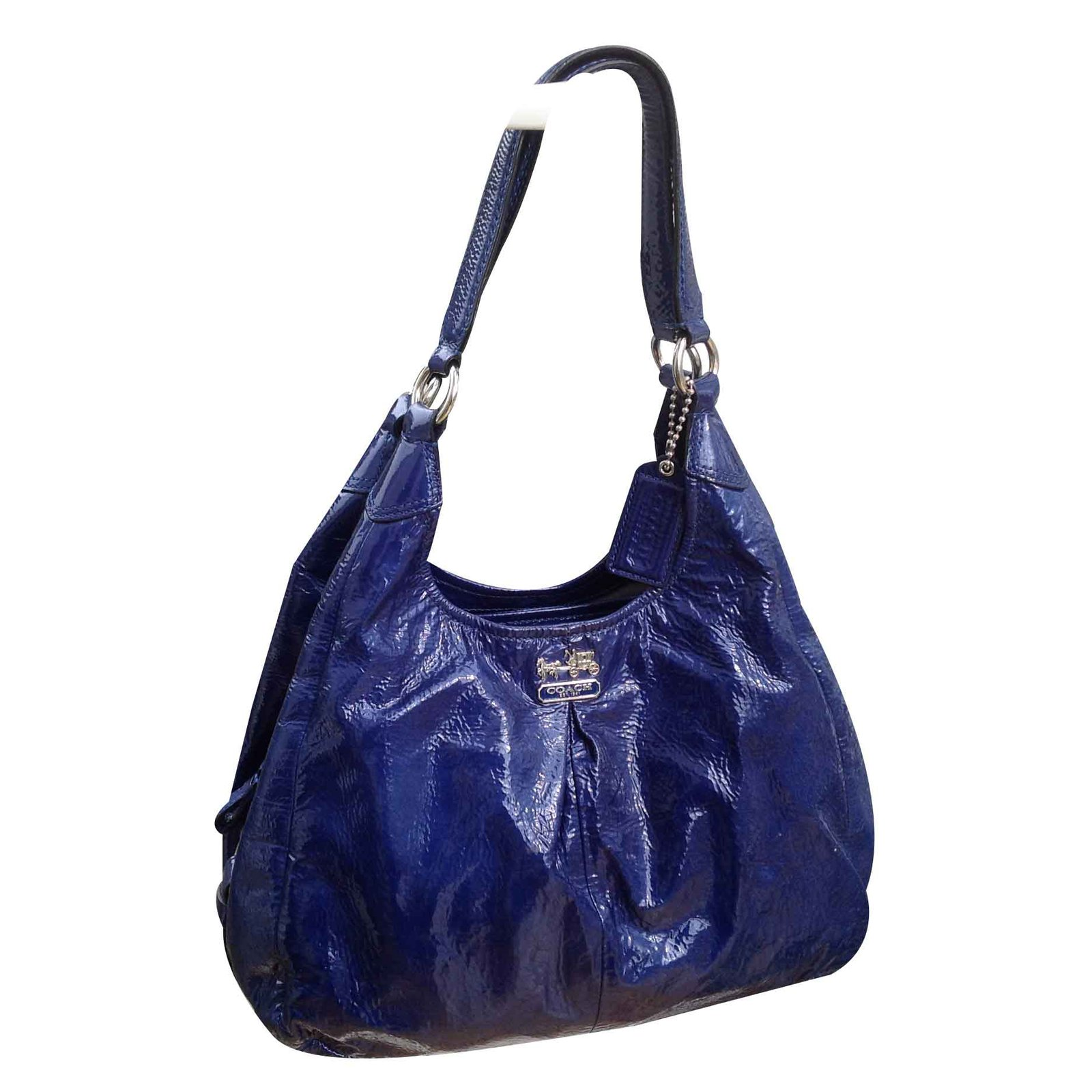 02b2096819e7 ... get coach madison patent maggie shoulder bag handbags patent leather  blue ref.20743 3aa48 7f266