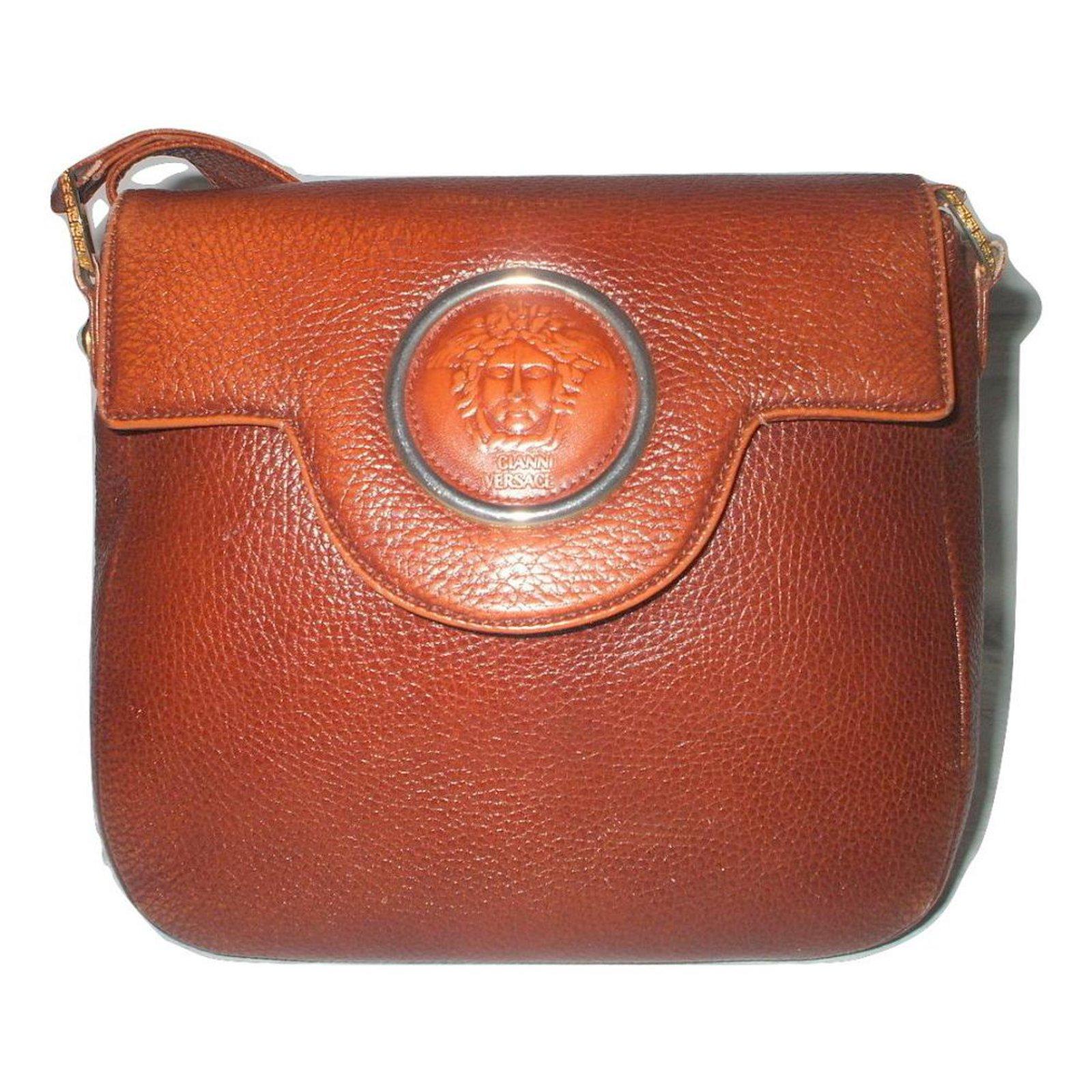 ac31ed9b7a Gianni Versace Vintage Handbags Leather Brown ref.20747 - Joli Closet