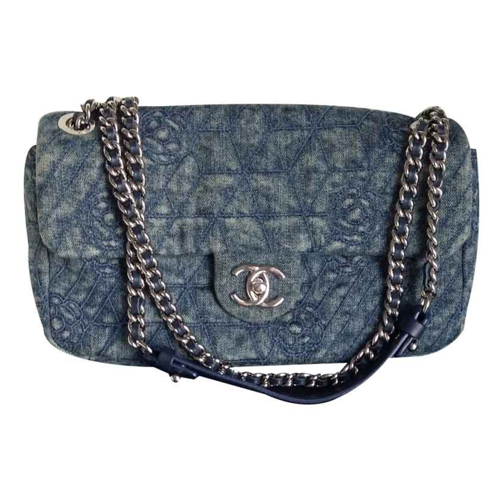 Chanel Bag Handbags Denim Blue Ref 20796