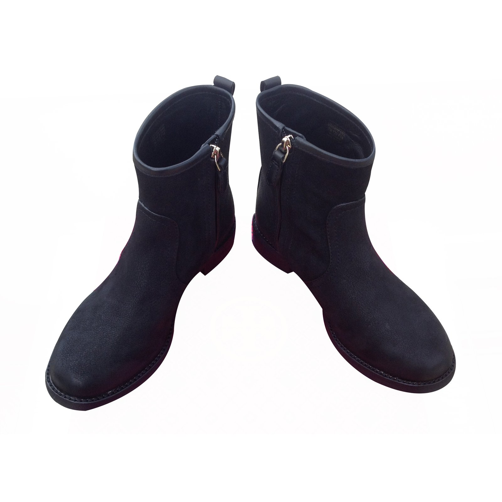 4c28d3465ce Tory Burch Simone Vintage Buffalo Print Veg leather Black Boots Ankle Boots  Suede Black ref.