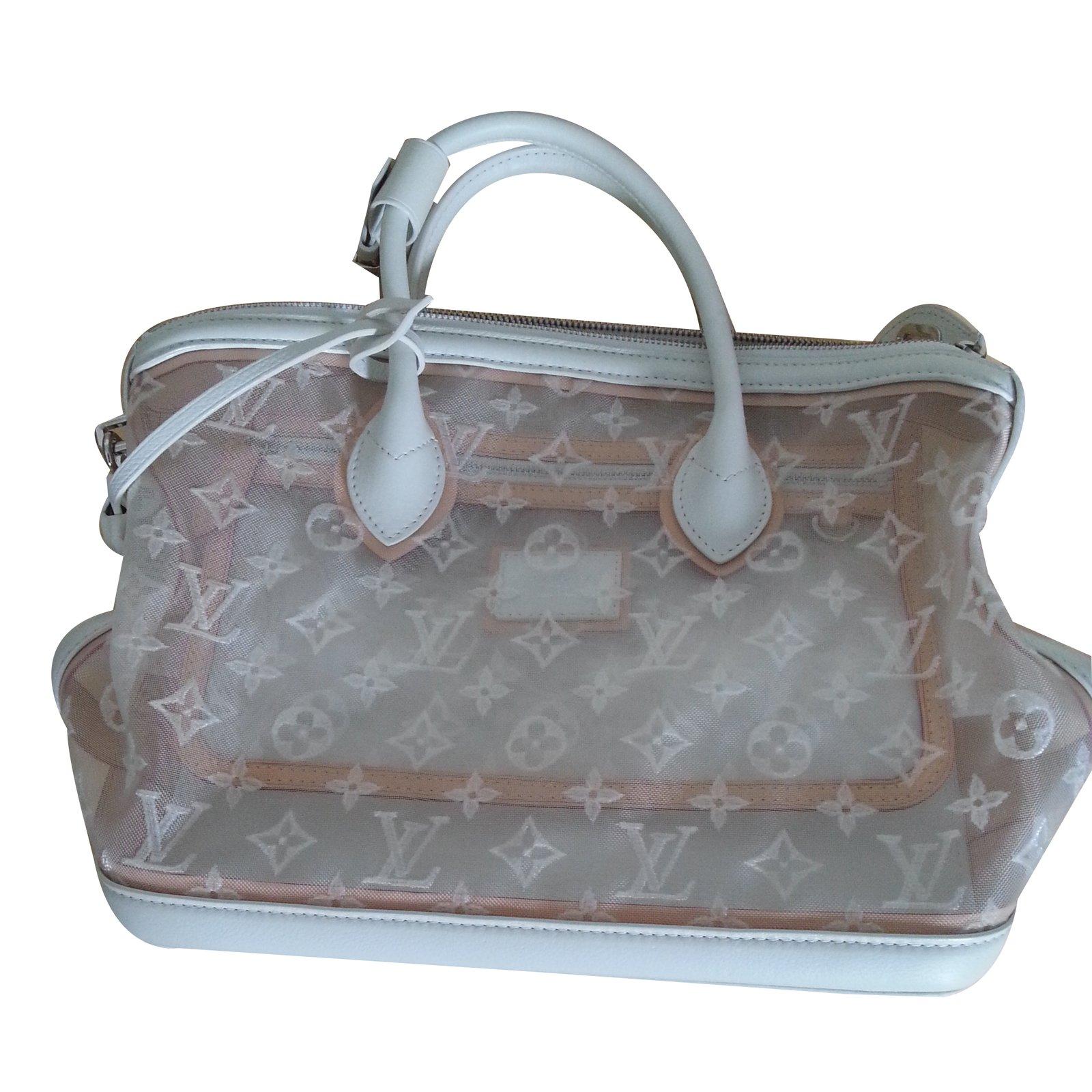 d7d9f3df3f Sacs à main Louis Vuitton Lockit en monogram transparent Toile Blanc  ref.20820