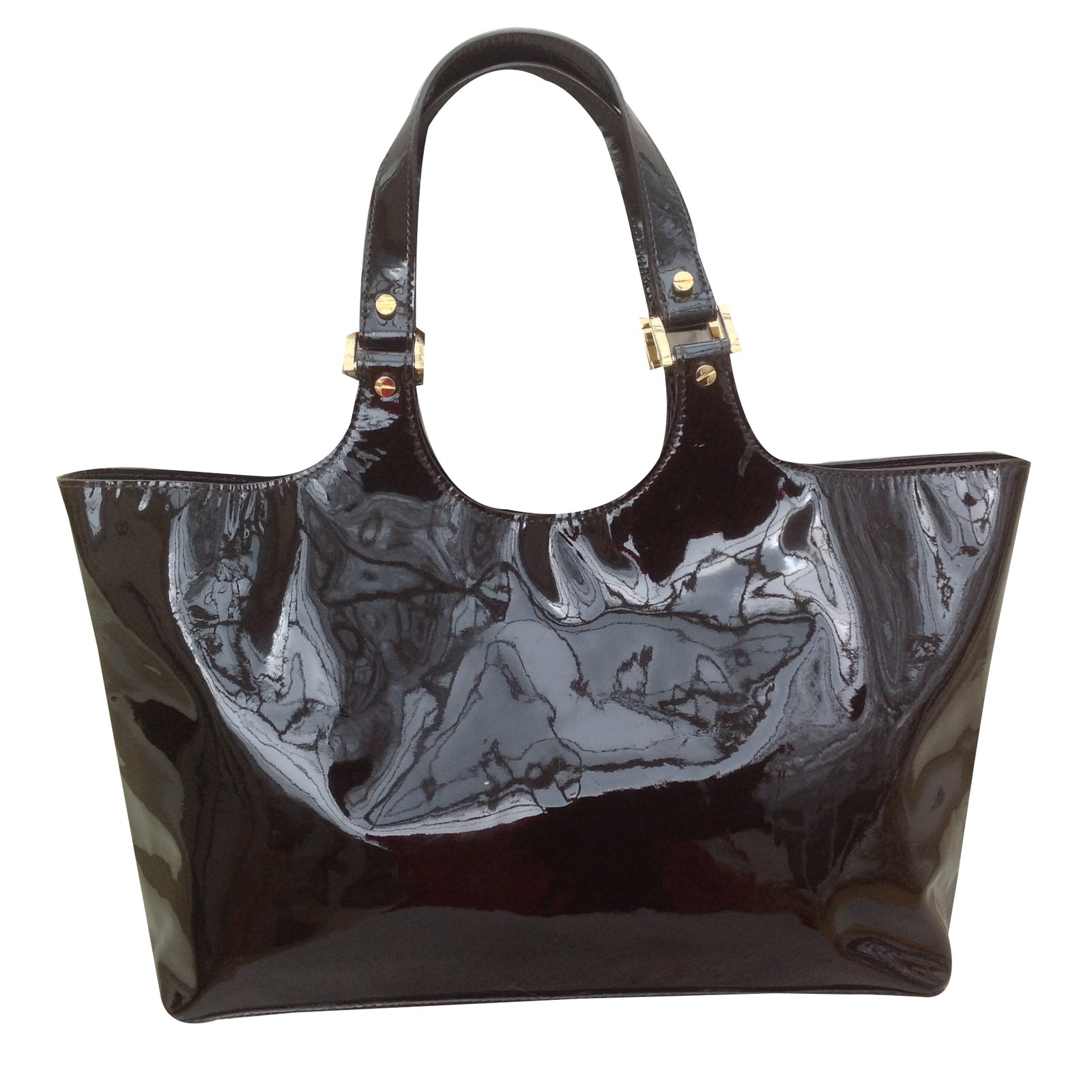 5d15b8d0c74 Tory Burch Tory burch patent leather bombe tote Handbags Patent leather  Brown ref.20822