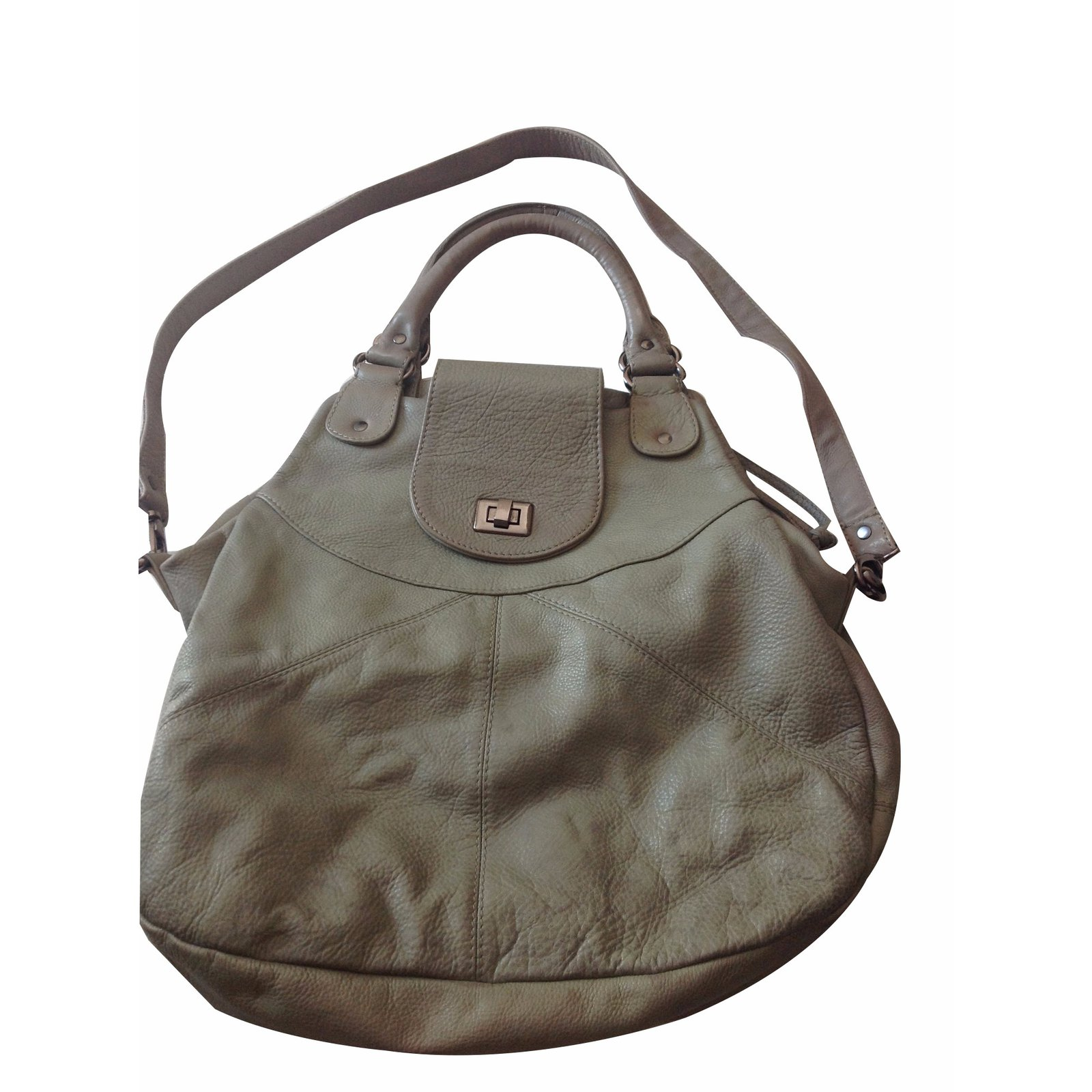 Paul Joe Sister Handbag Handbags Leather Grey Ref 20833