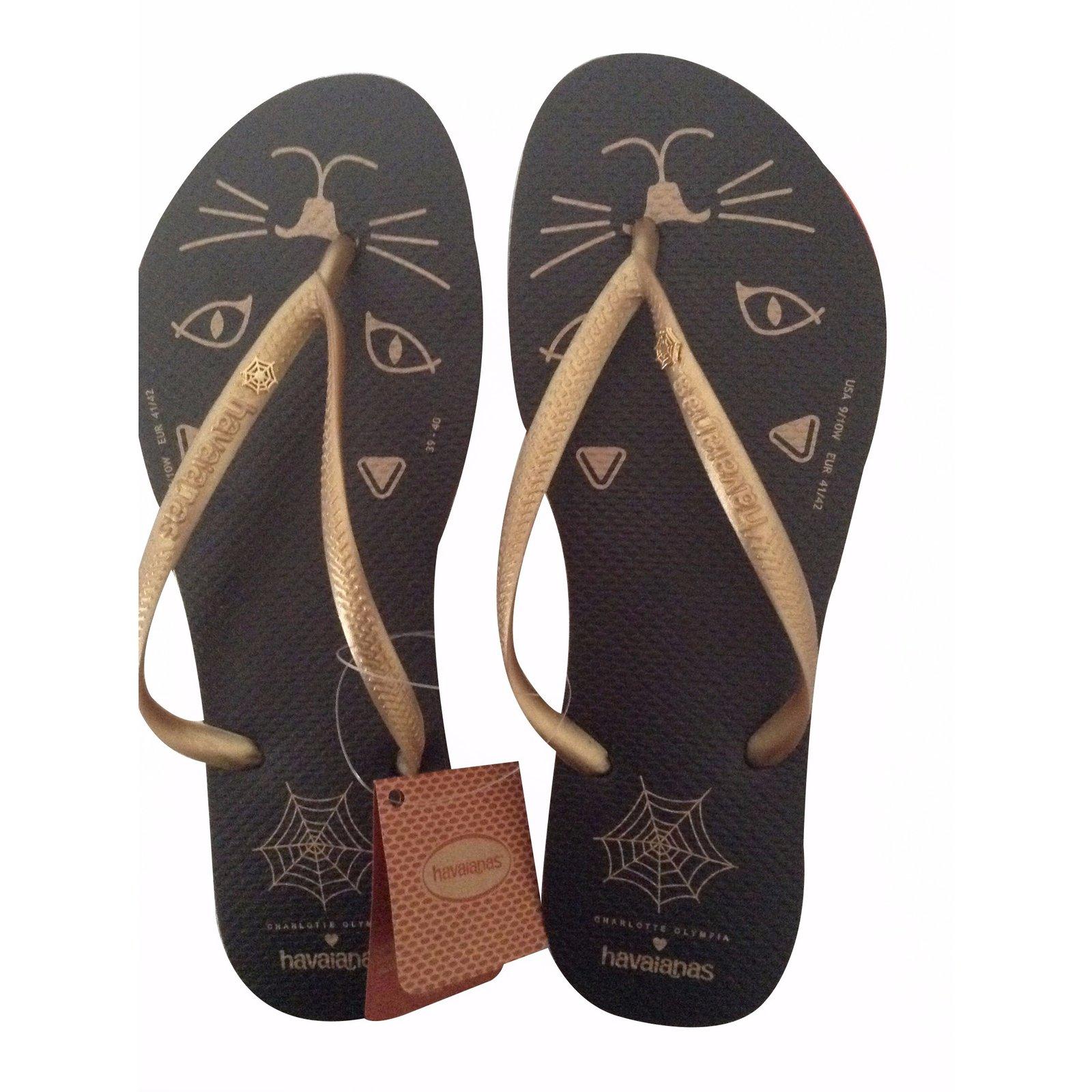 1e67fc74b76a Charlotte Olympia Sandals Sandals Rubber Black ref.20866 - Joli Closet