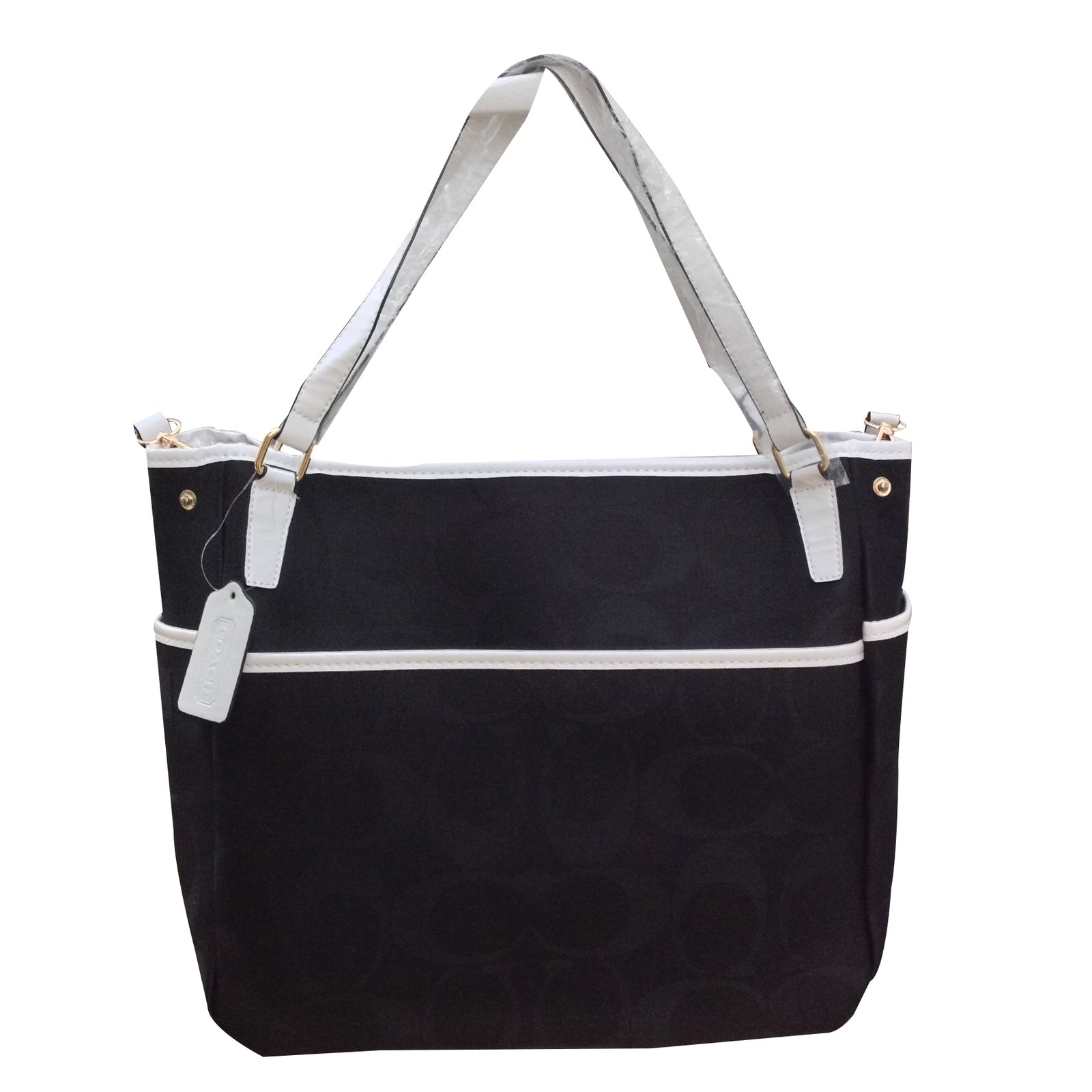 2b02a56a10 Coach Coach Signature Fabric Large Black Tote Handbags Cloth Multiple  colors ref.20970