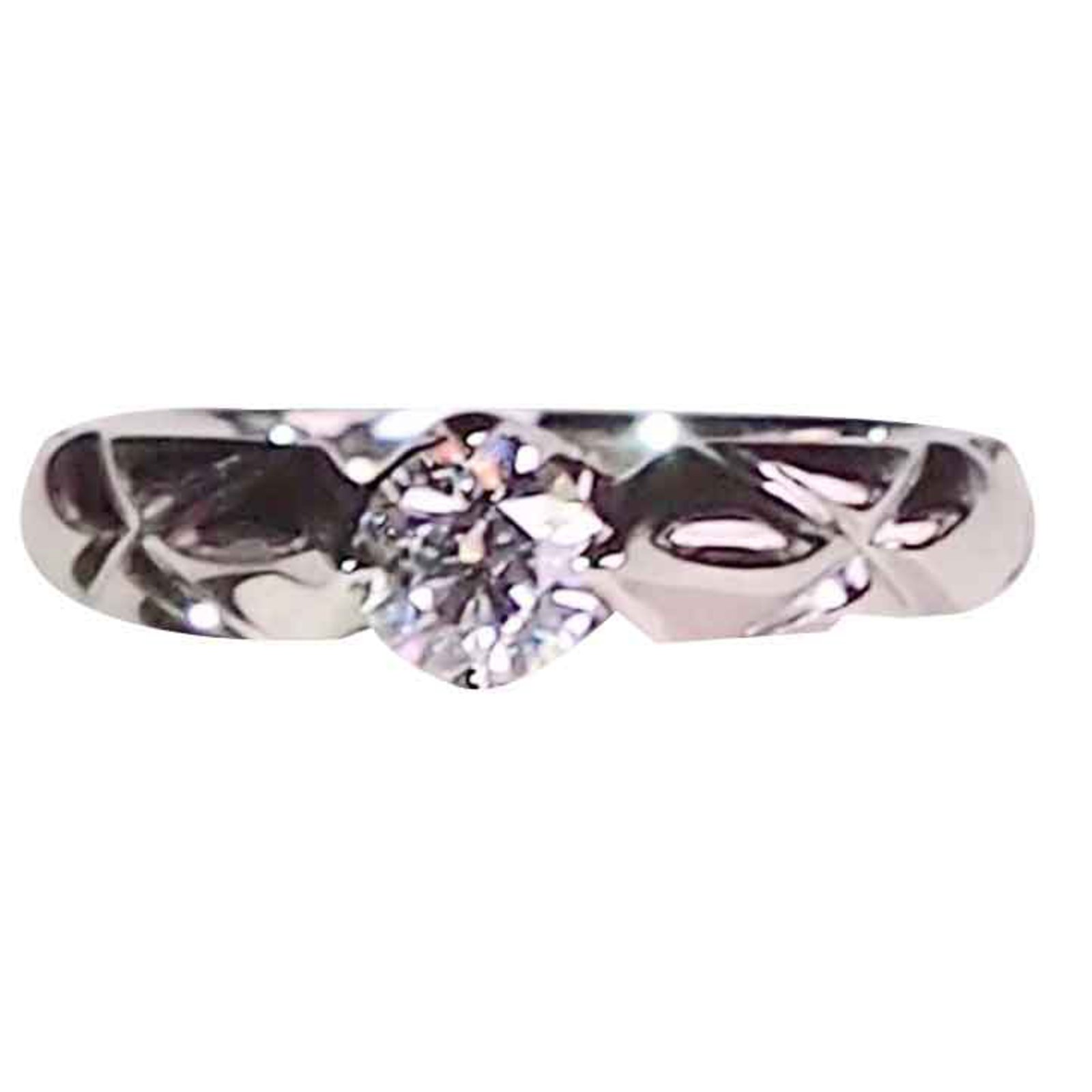 ring solitaire platinum cartier diamond engagement