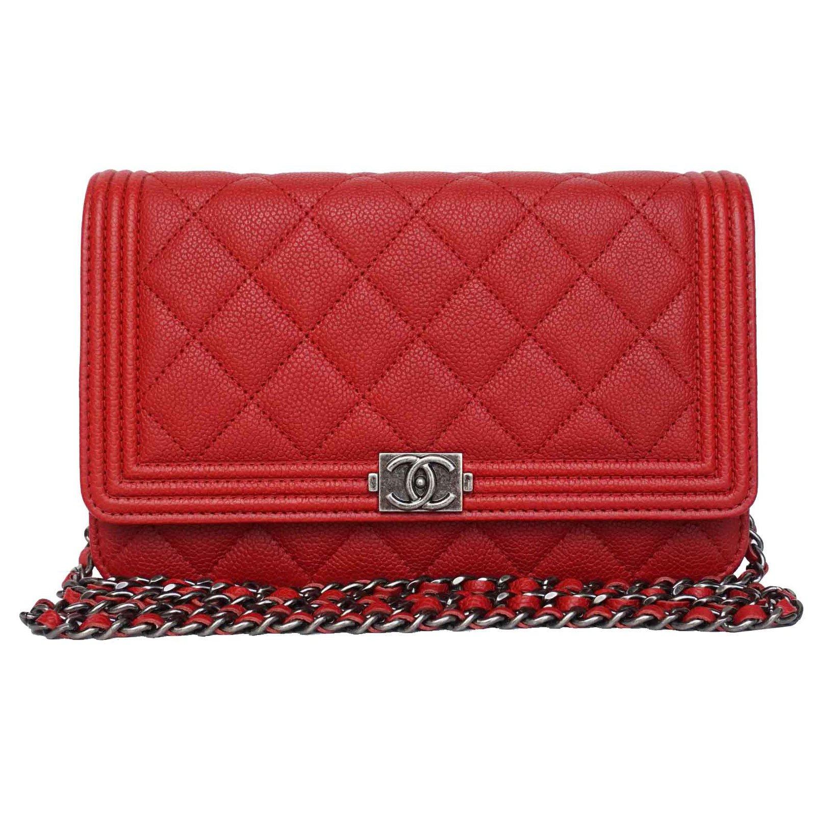 ea9e093b975a Chanel Boy WOC Handbags Leather Red ref.21186 - Joli Closet