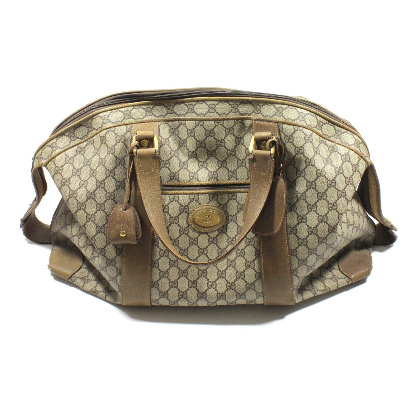 5beac0ac0e63 Gucci Travel bag Travel bag Cloth Beige ref.21216 - Joli Closet