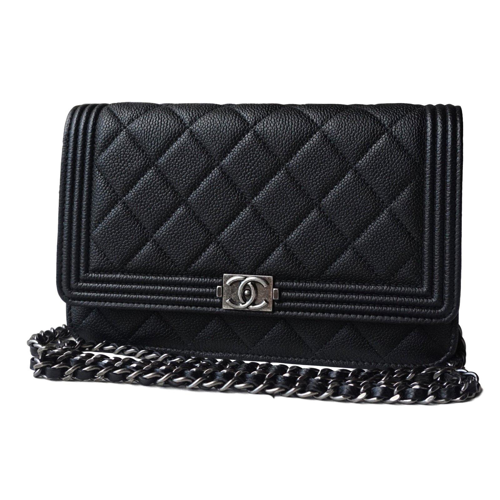 Chanel Boy Woc Handbags Leather Black Ref 21279 Joli Closet