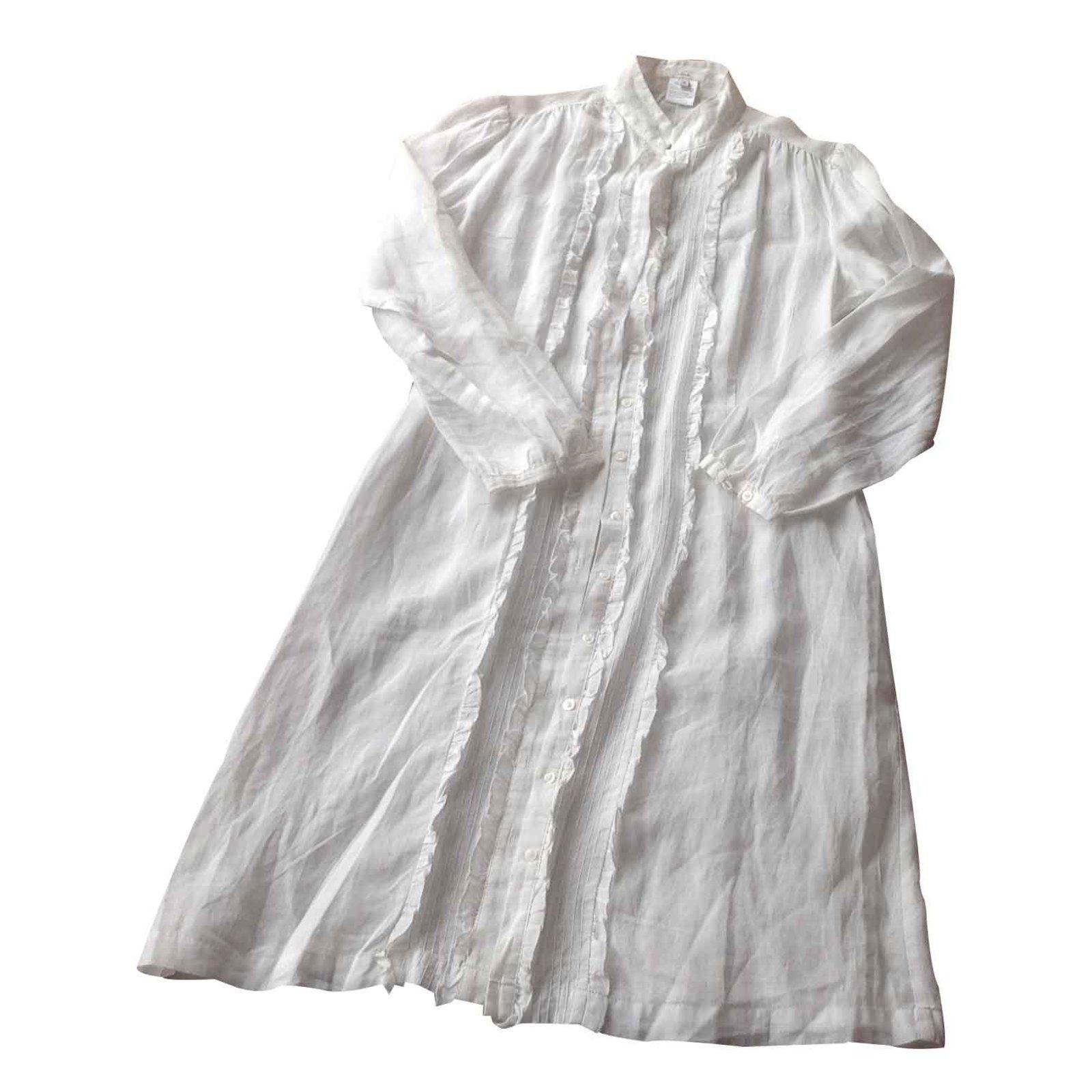 ae68396b92 Autre Marque Dress Lola Dresses Linen White ref.21346 - Joli Closet