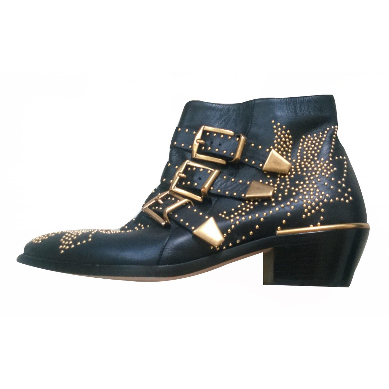 Chloé Susanna Ankle Boots Leather Black
