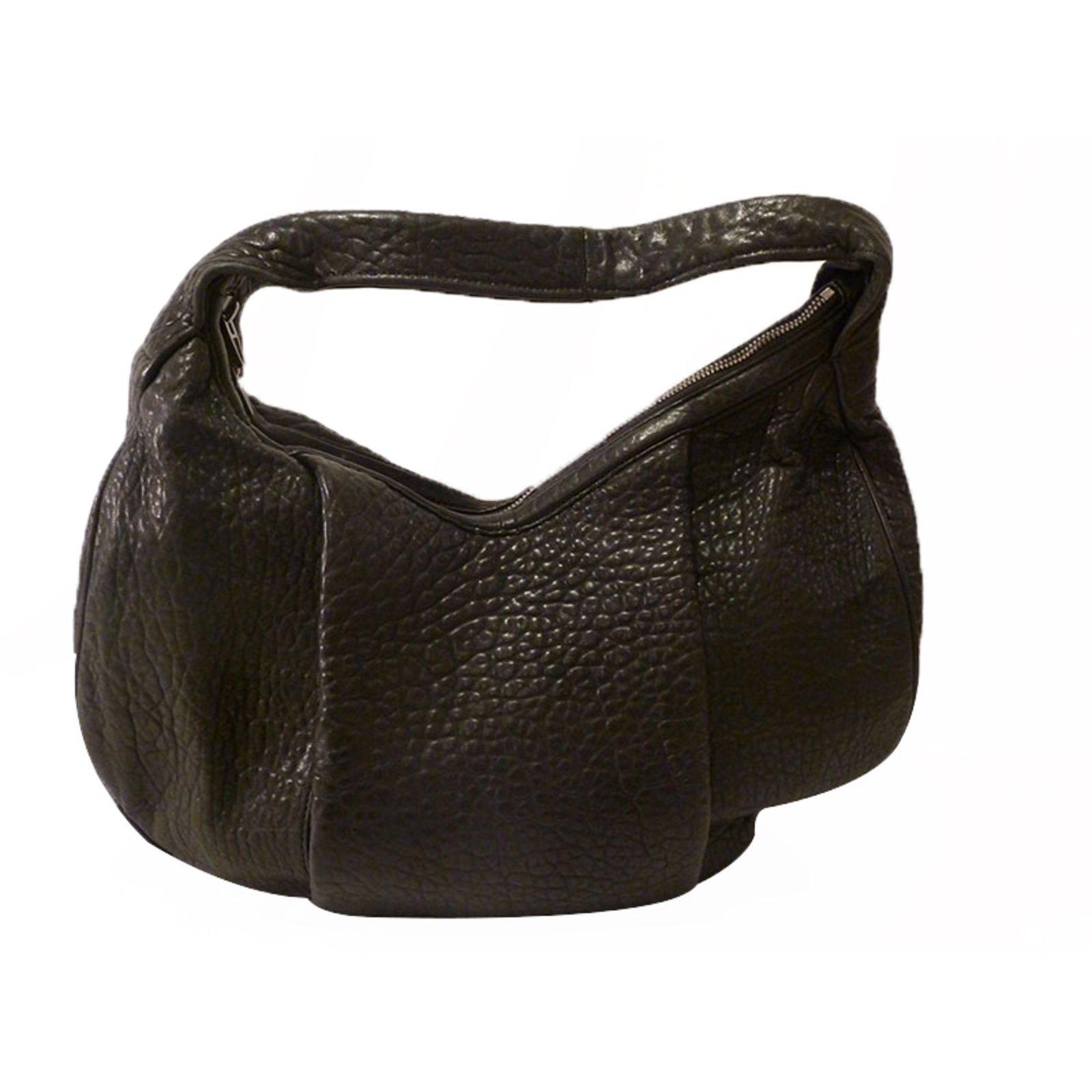 Alexander Morgan Hobo Bag Handbags Leather Black Ref 21607