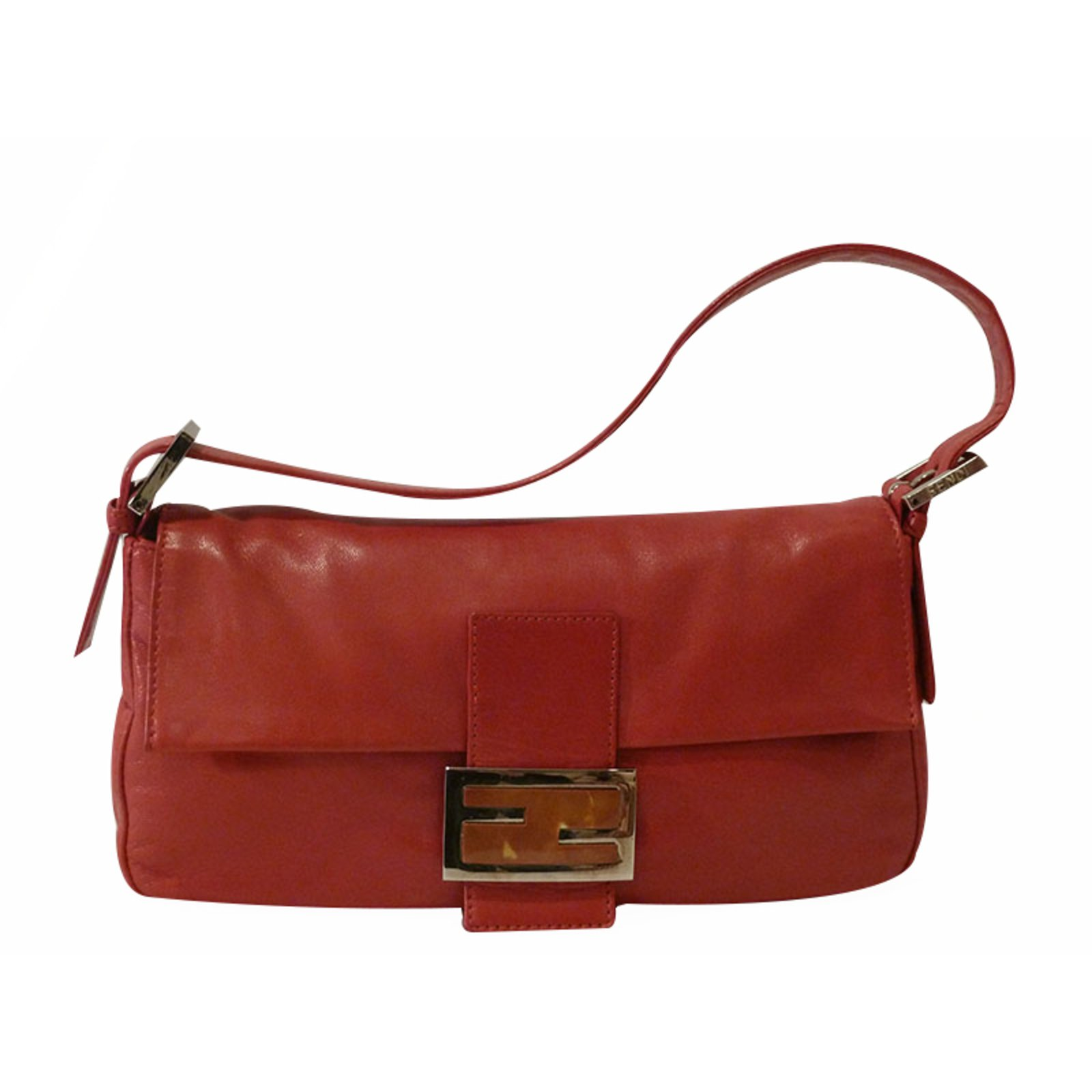 7a18a106f4 ... hot fendi baguette shoulder bag handbags leather red ref.21609 7045c  f7f67