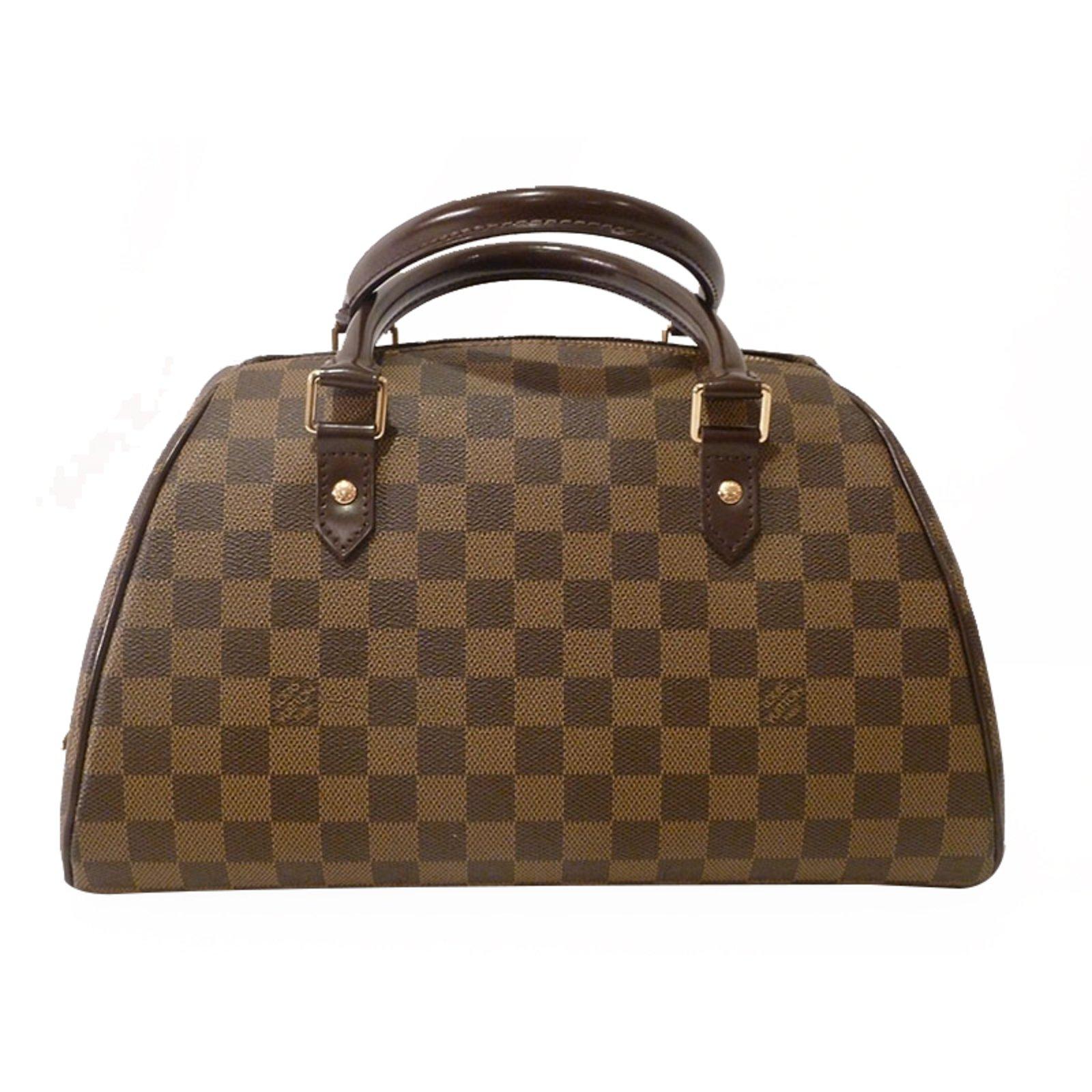 Sacs à main Louis Vuitton Damier Ebene Ribera MM Cuir Marron ref.21610 e2f8186cf6a