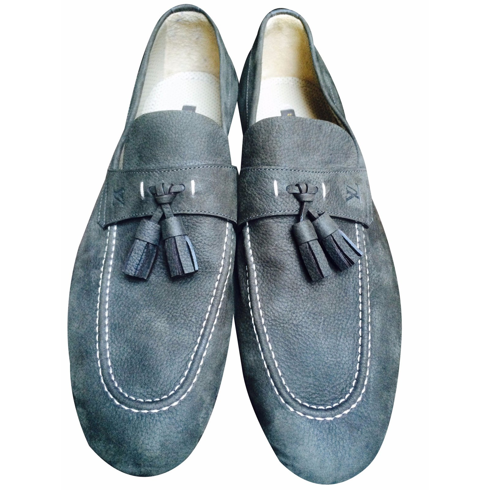 3745bcb4e557 Louis vuitton derbies men sandals suede grey ref joli closet jpg 1600x1600 Louis  vuitton men sandals