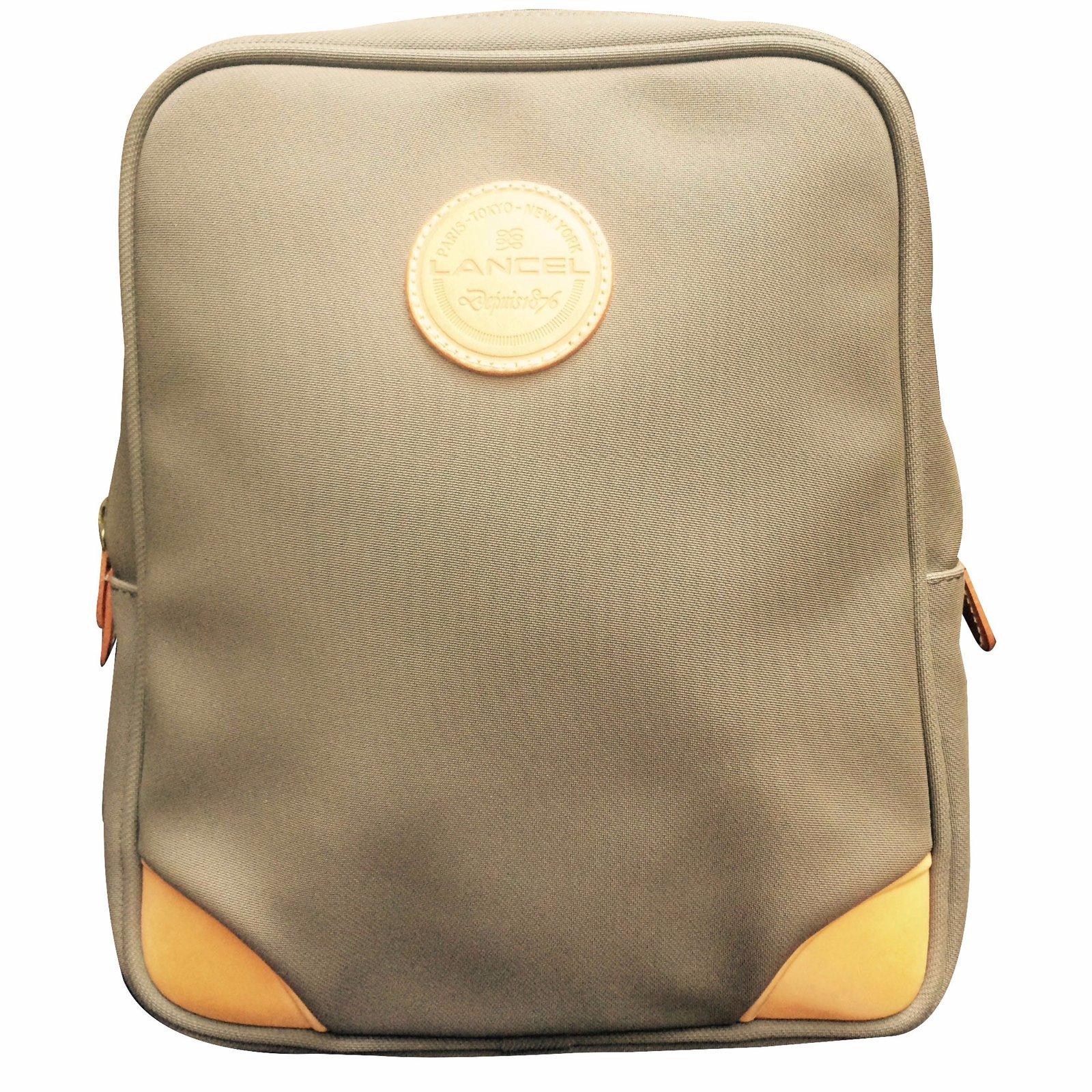 41bfca689442 Lancel Backpack Backpacks Cotton Light brown ref.21664 - Joli Closet