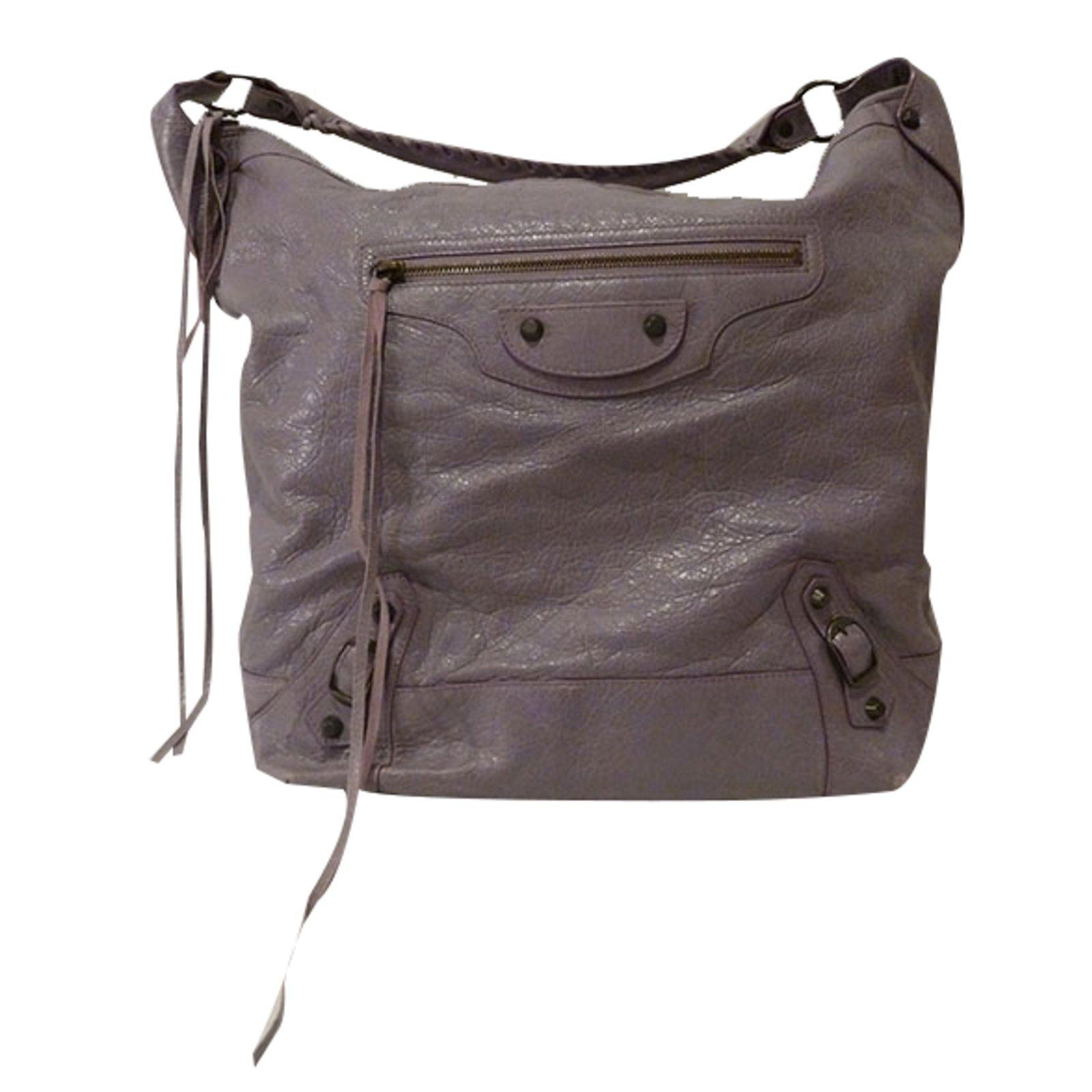 9811d5675bcd Balenciaga Classic Day Hobo Bag Handbags Leather Purple ref.21686 ...