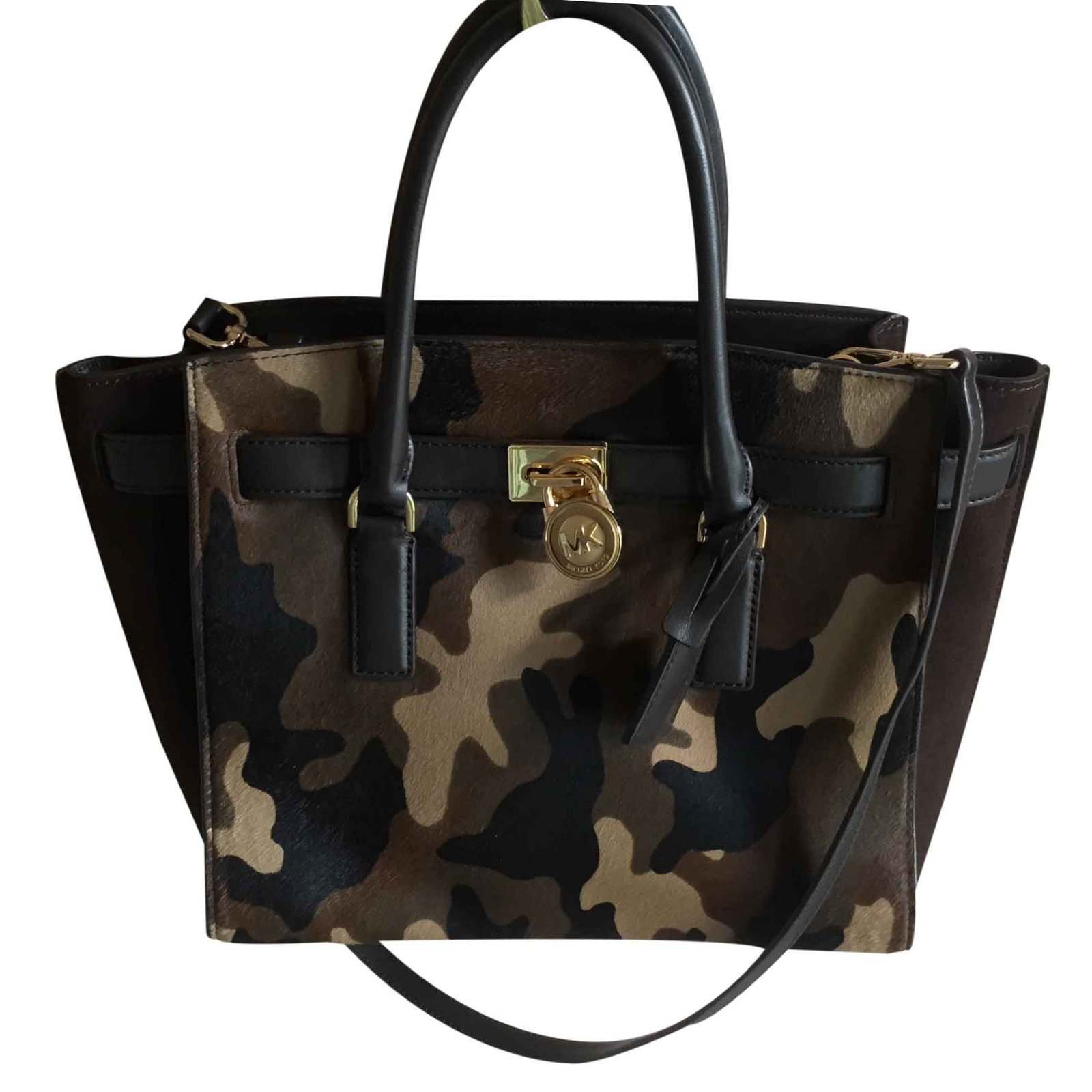 1753f7dc0482ef Michael Kors Hamilton traveler duffle camo Handbags Leather Other ref.22076