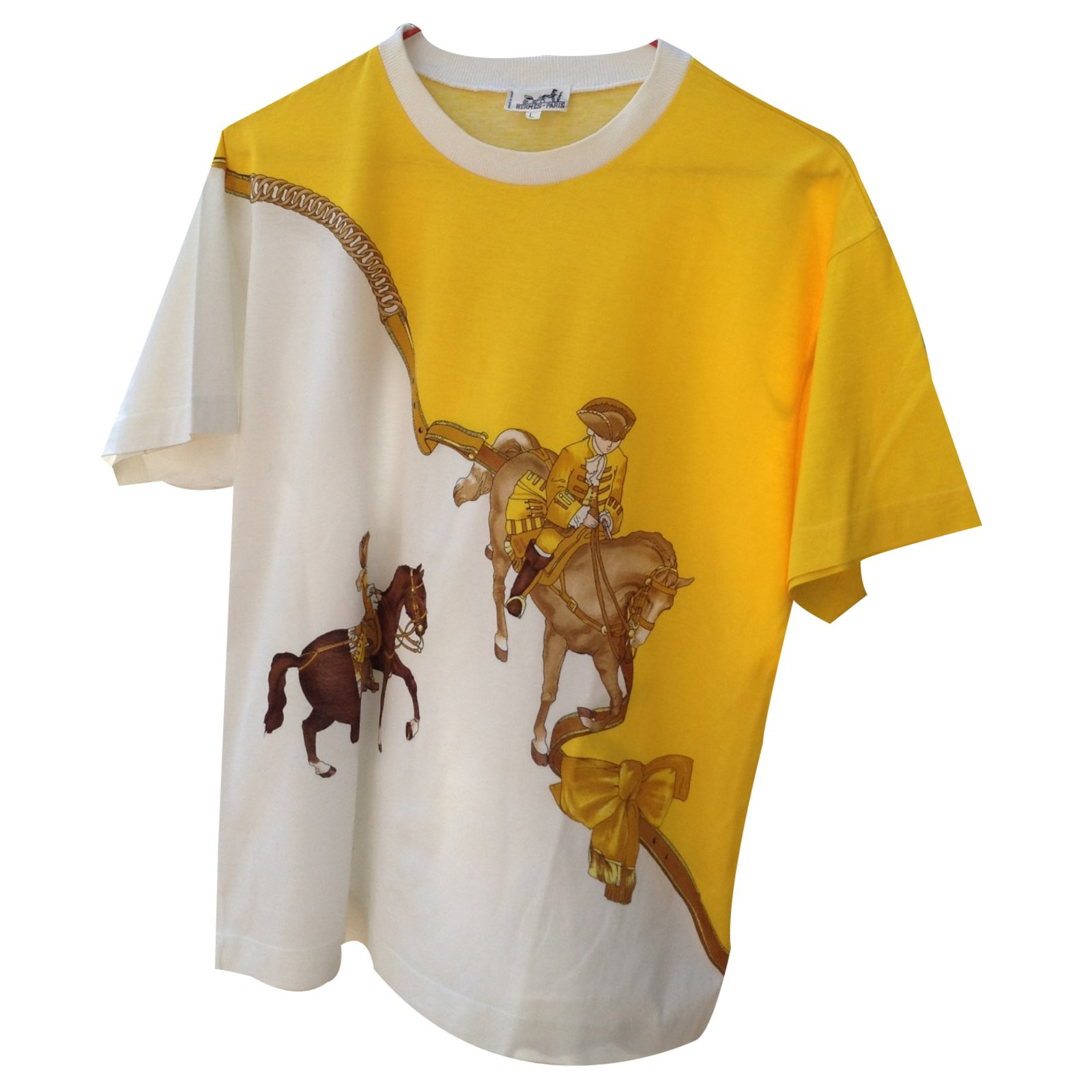 73c77026 Herm s T shirt Tops Cotton Yellow ref 22209 Joli Closet