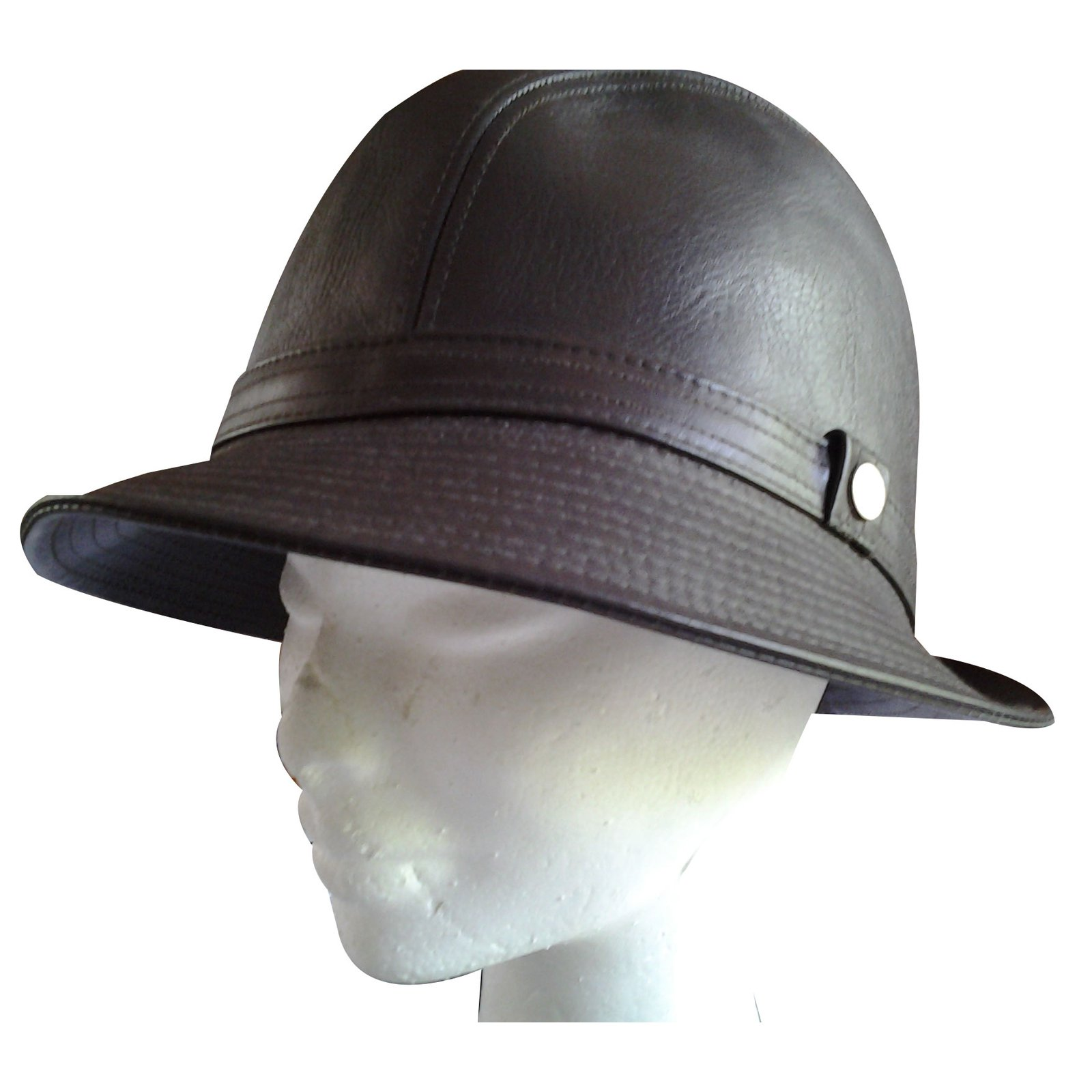 Burberry Hat Hats Leather Brown ref.22394 - Joli Closet cc450a5a261