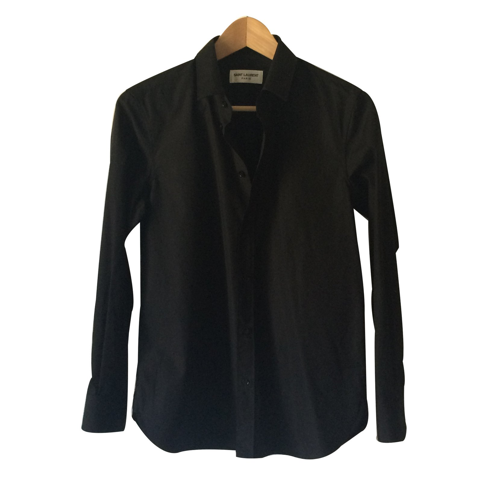 Saint laurent shirt tops cotton black joli closet for Saint laurent shirt womens