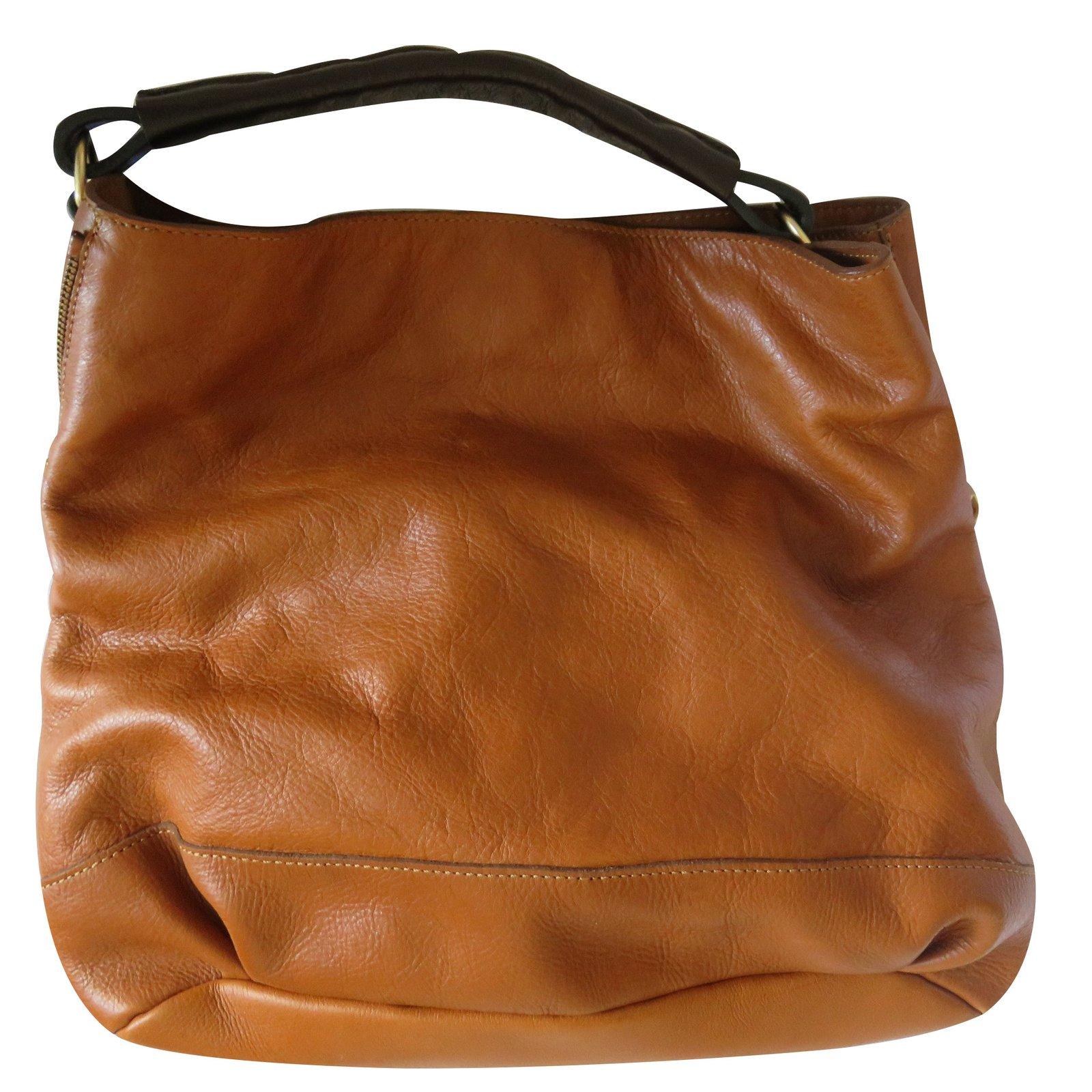 ea2f8725a046 Massimo Dutti Handbag Handbags Leather Caramel Ref 22890 Joli Closet