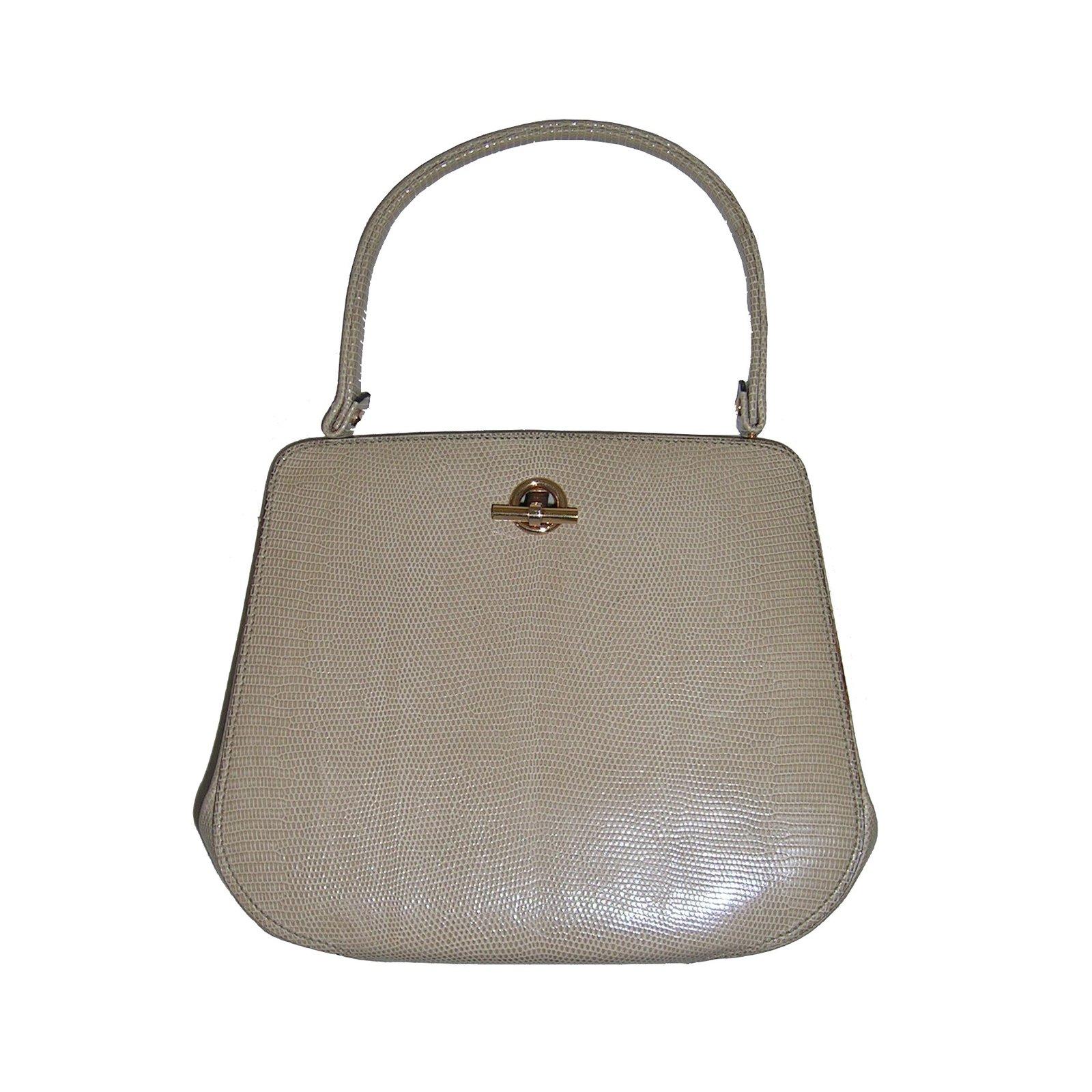 sacs main autre marque sacs main 39 le gout de jour 39 cuirs exotiques beige joli closet. Black Bedroom Furniture Sets. Home Design Ideas