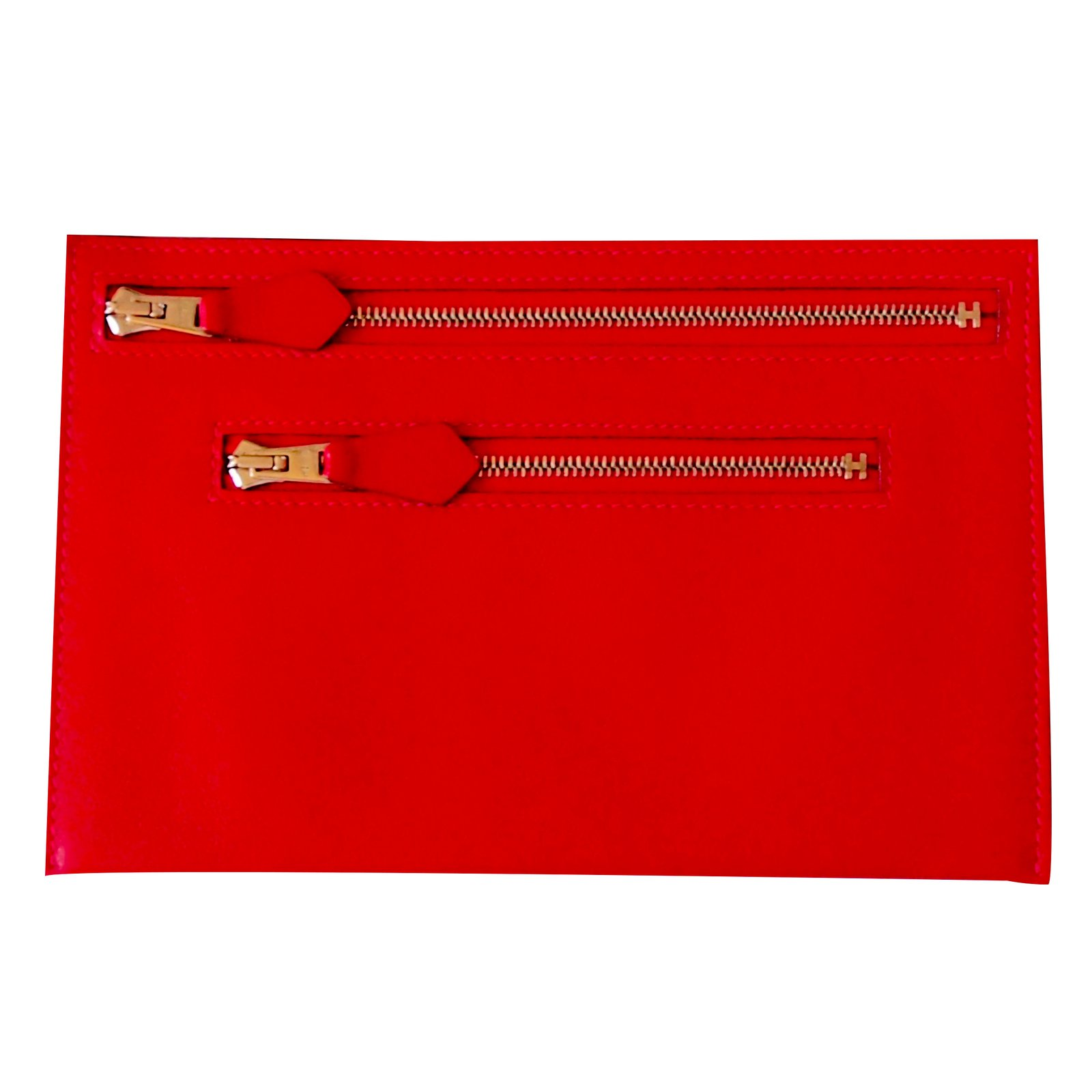 Hermès Purse Wallets Leather Red ref.23115 - Joli Closet c01cf4f7e4eb