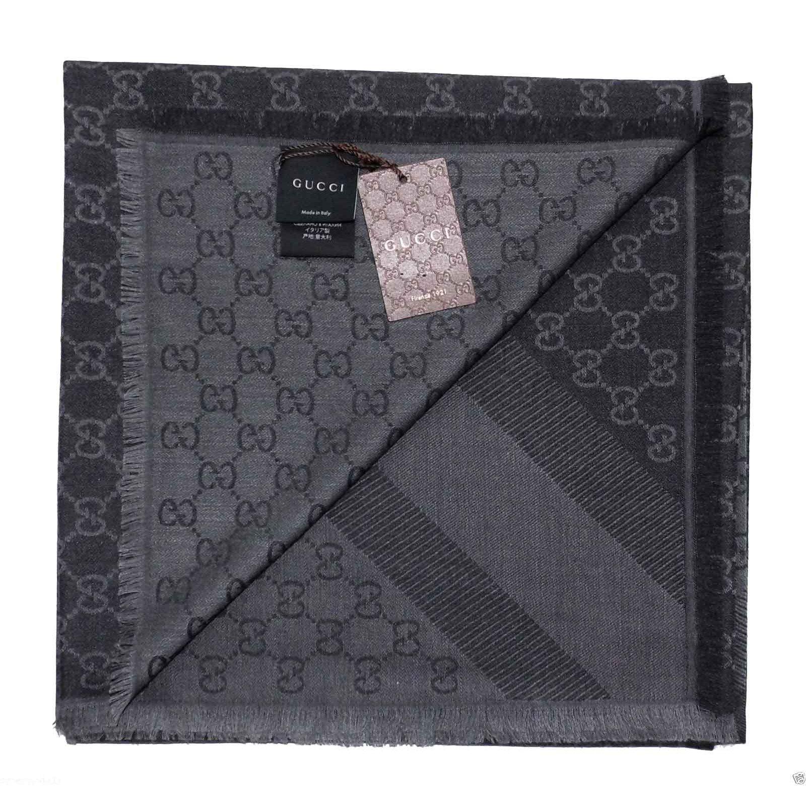gucci scarf scarves wool black joli closet. Black Bedroom Furniture Sets. Home Design Ideas