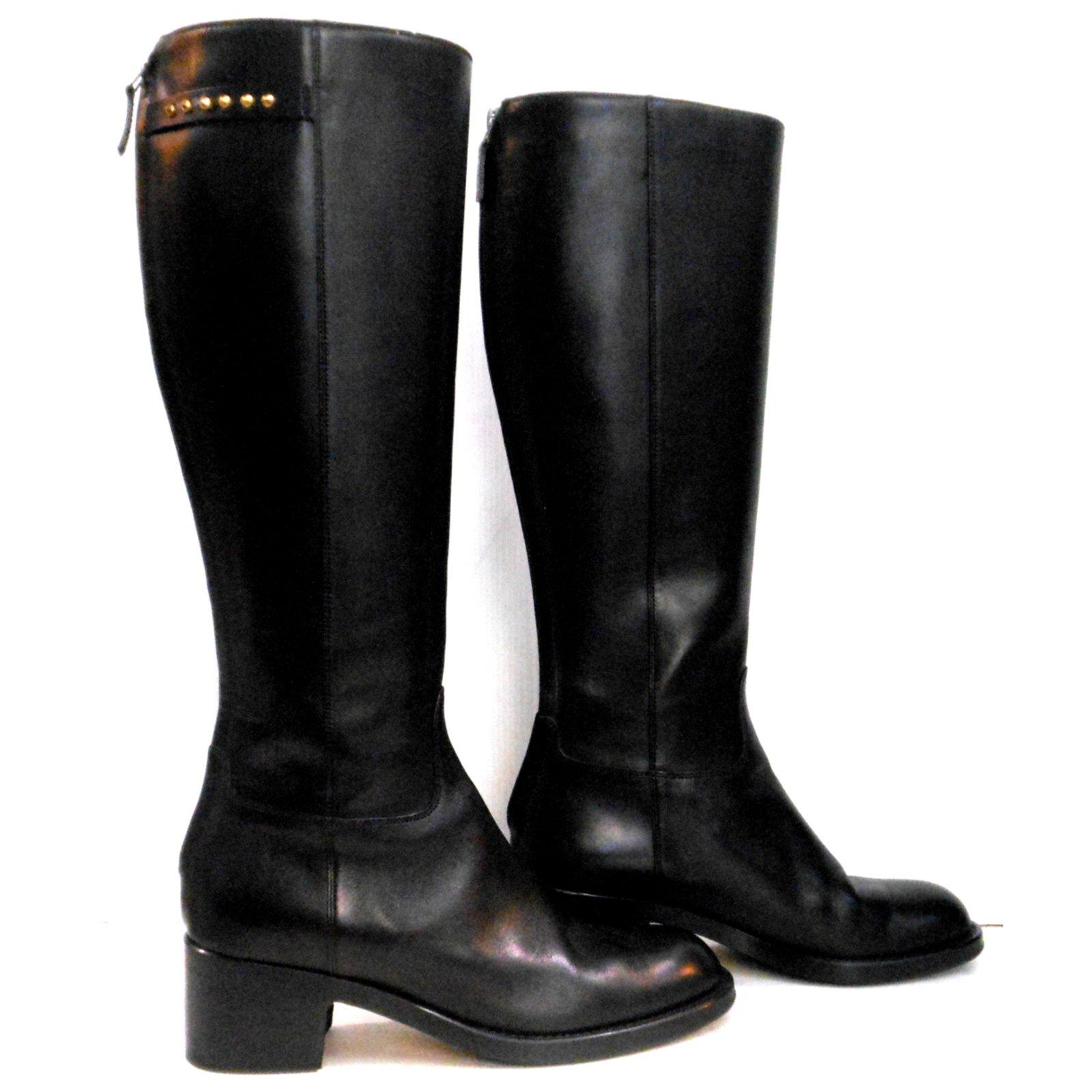 Bottes Gucci Bottes Cuir Noir ref.23709 - Joli Closet 4b380b82da5