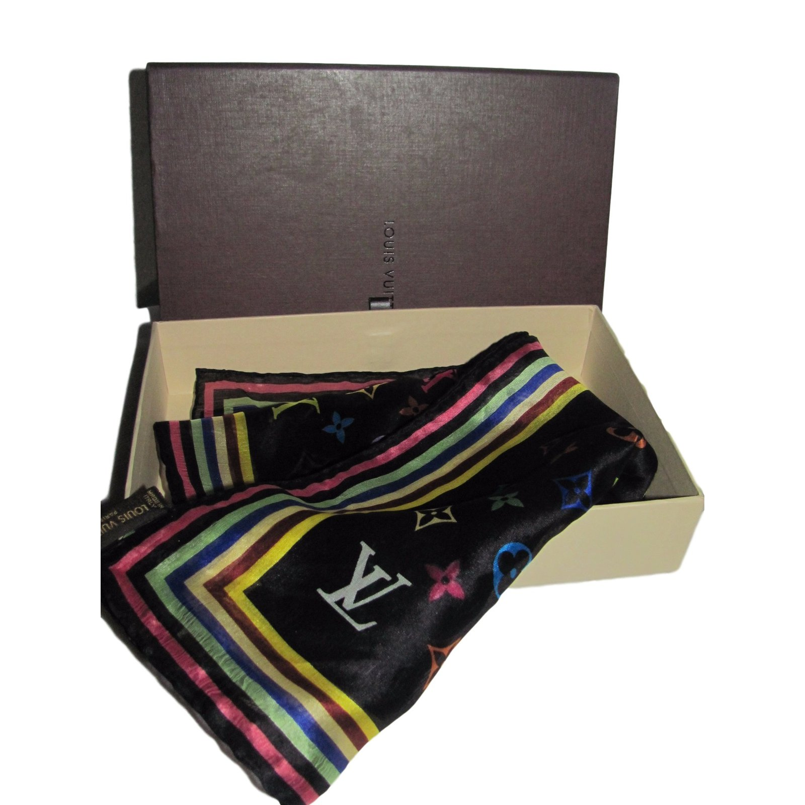 Foulards Louis Vuitton Foulard Soie Multicolore ref 23984 Joli Closet c03414e839e