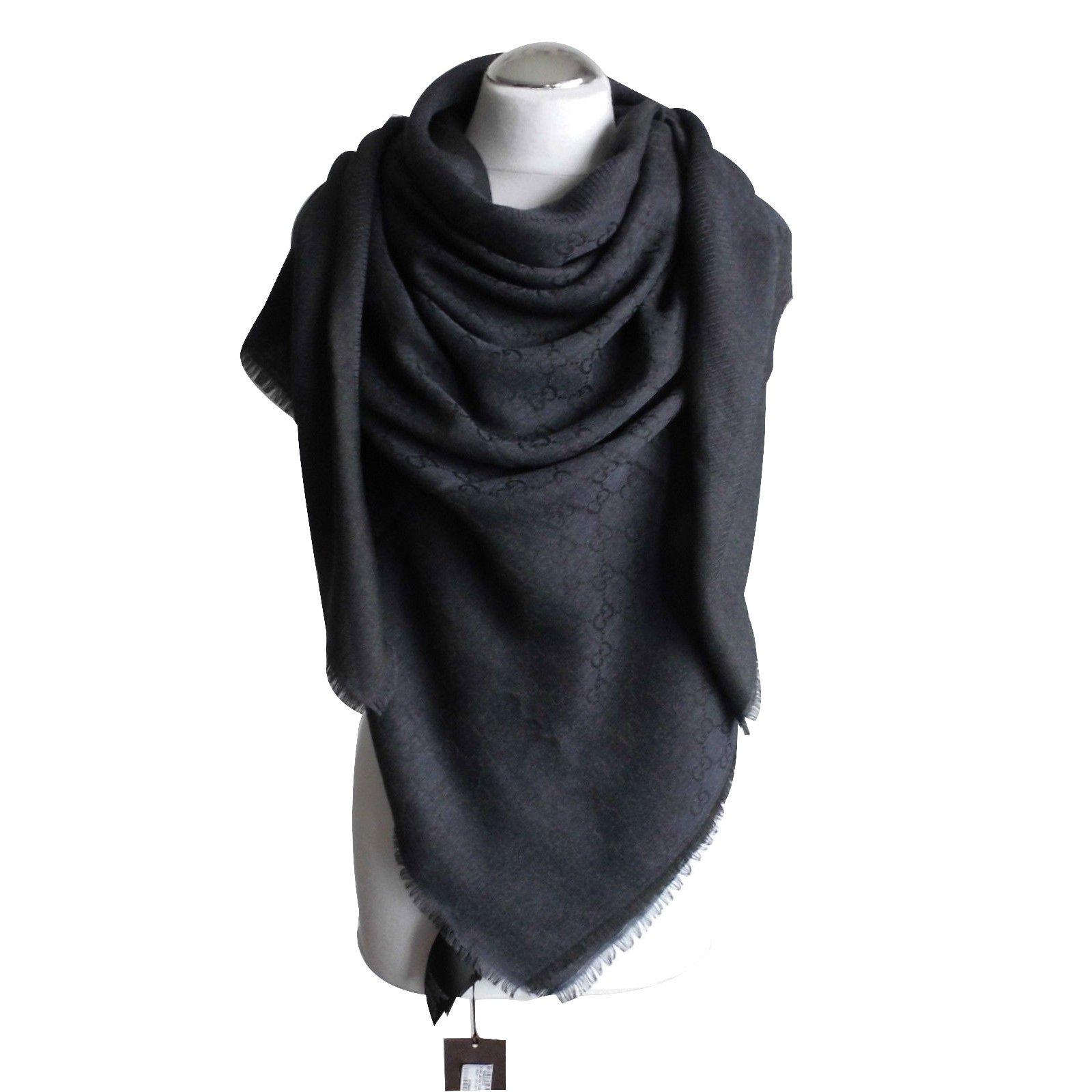 7a04f621ec2f Gucci scarf ggweb scarves wool black ref joli closet jpg 1600x1600 Gucci  scarf shawl