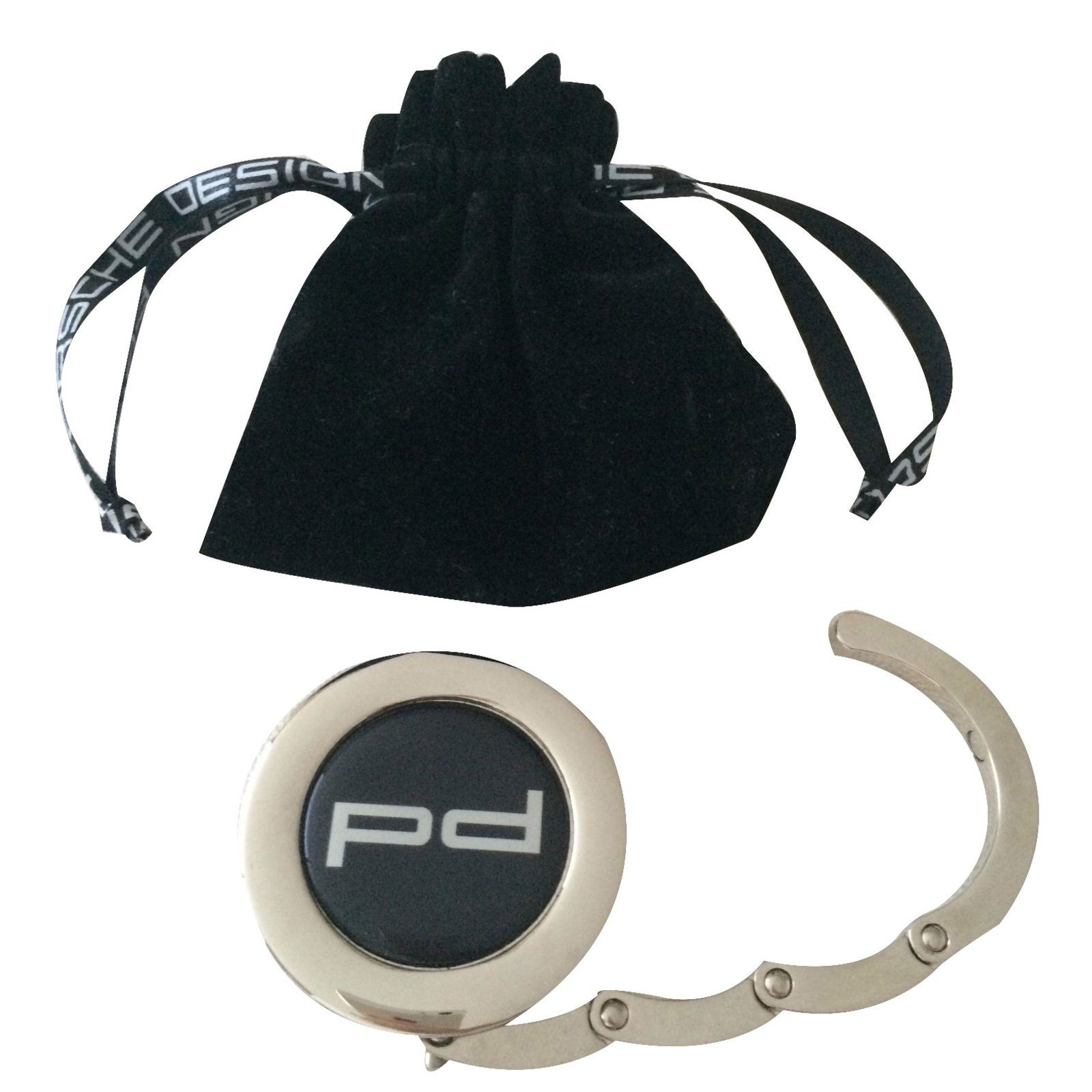 bijoux de sac autre marque bijoux de sac 39 porsche design 39 m tal noir joli closet. Black Bedroom Furniture Sets. Home Design Ideas