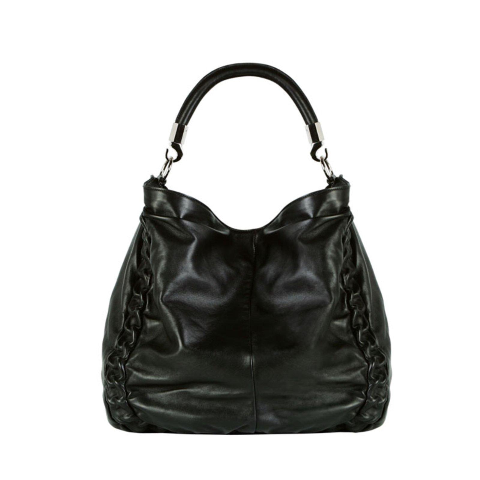 Yves Saint Laurent Handbag Handbags Patent Leather Black Ref 24281