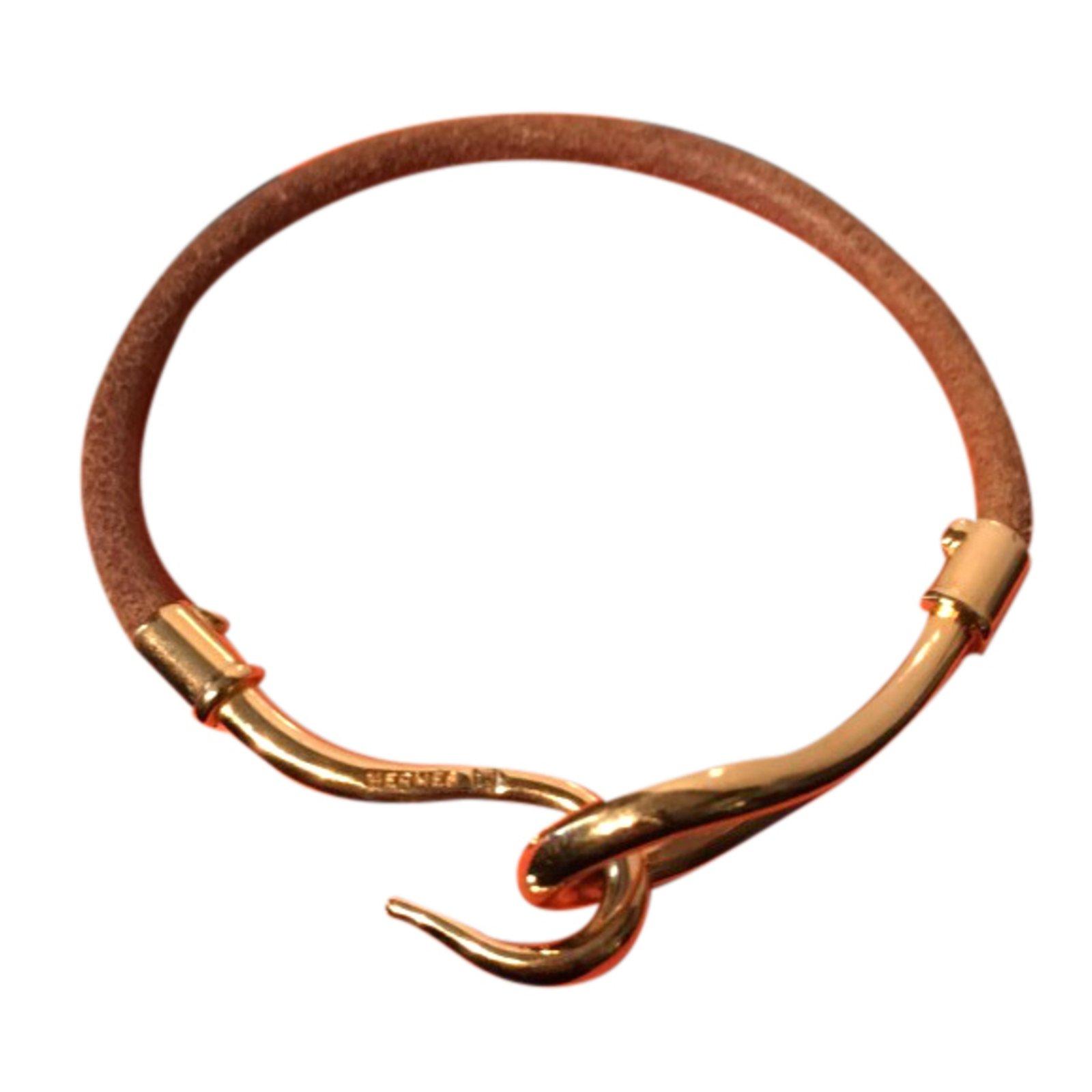 4f89943fc86f ... czech hermès bracelet bracelets leather golden ref.24304 4b038 809a4 ...