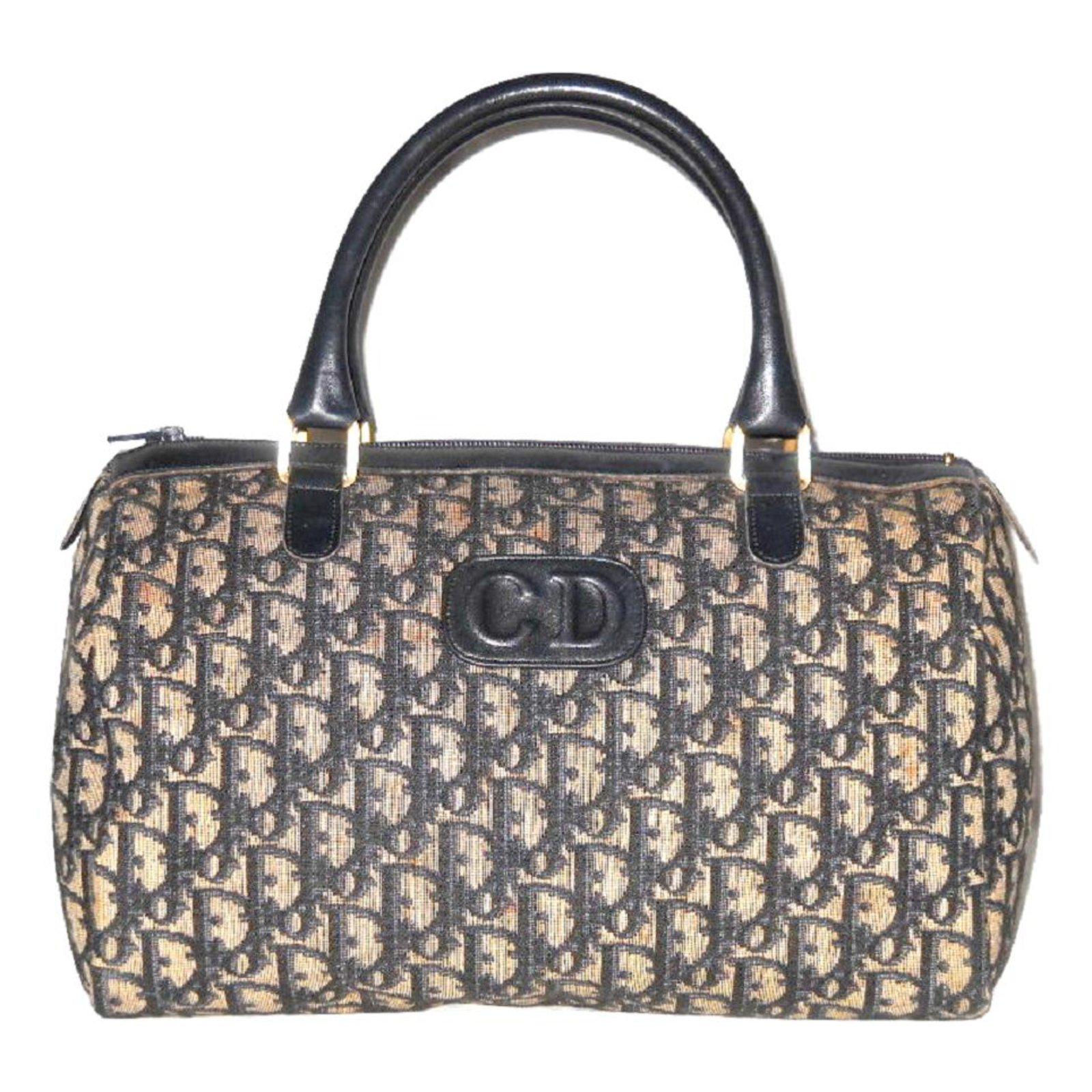 Dior Sdy 30 Vintage Handbags Cloth Blue Ref 24329