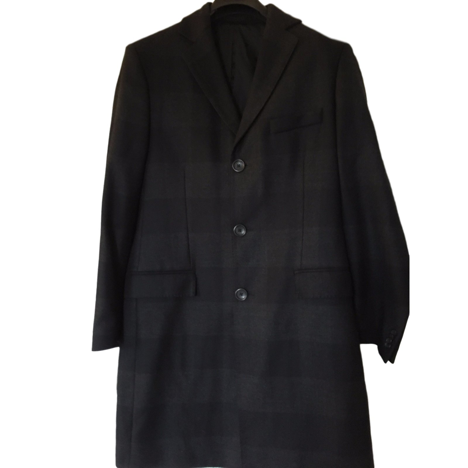 Versace Coat Men Coats Outerwear Wool Black ref.24349 - Joli Closet
