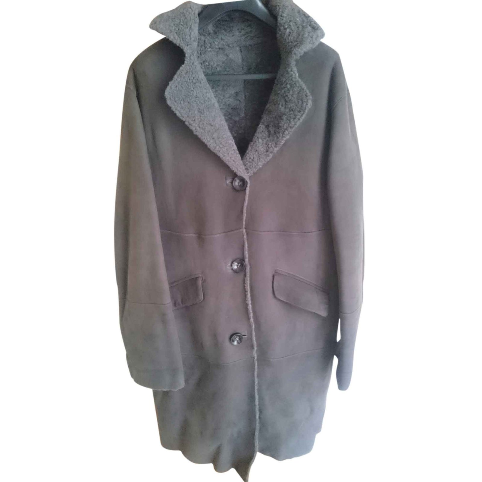 Manteau gerard darel peau lainee