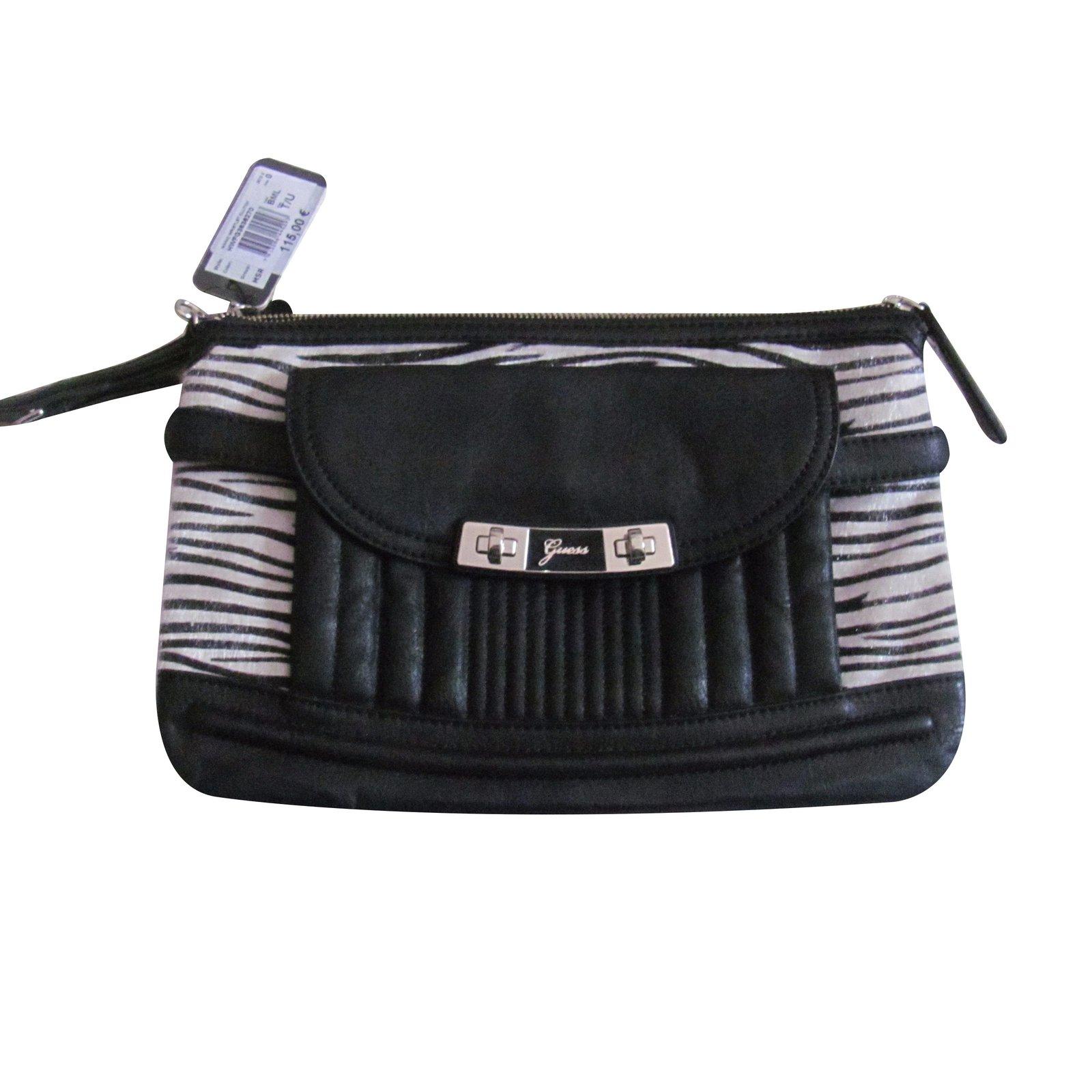 63f04c7e3ce6 Guess Clutch bag Clutch bags Leather Zebra print ref.24496 - Joli Closet