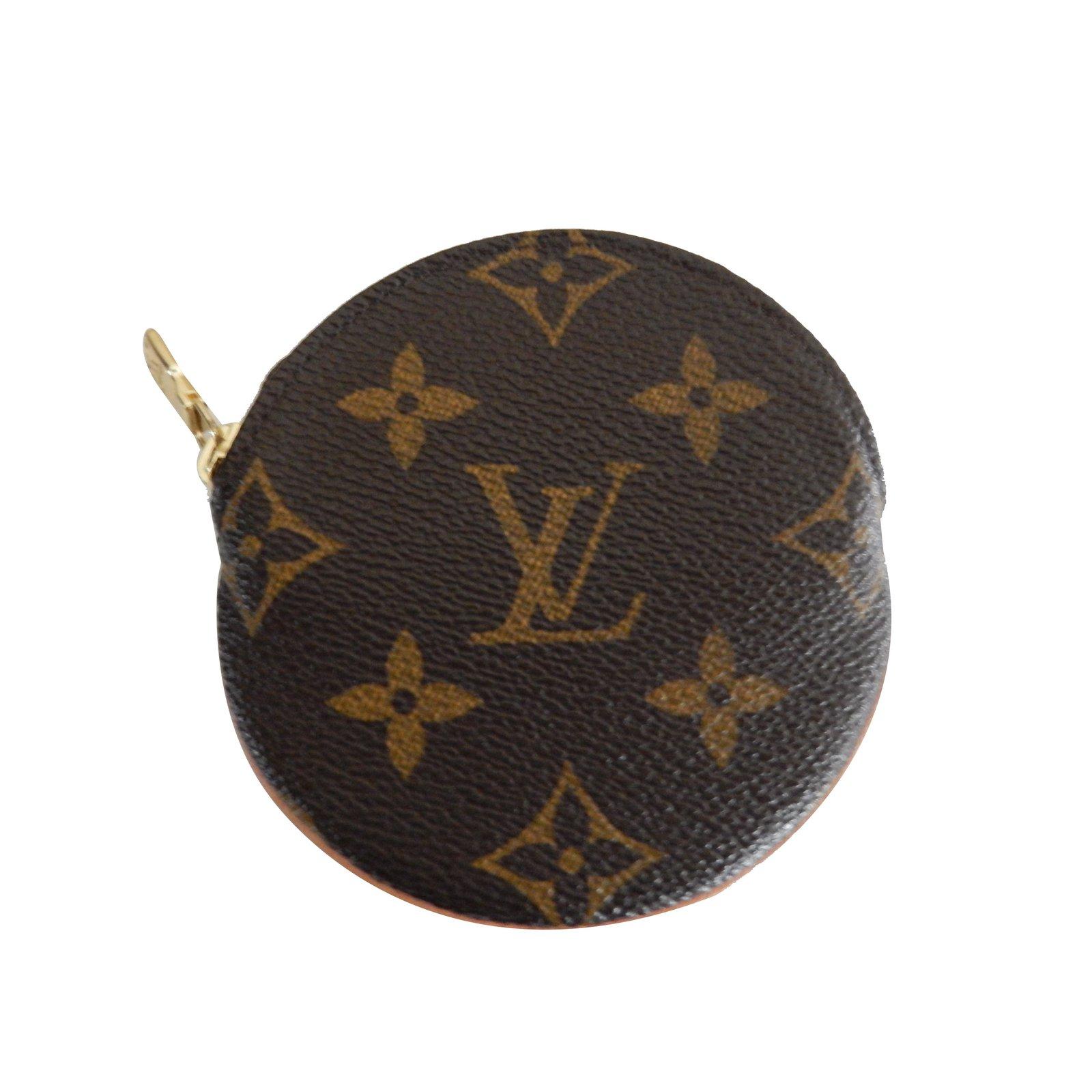 f6260f88ee7 Petite maroquinerie Louis Vuitton Porte monnaie rond Toile Marron ref.24522