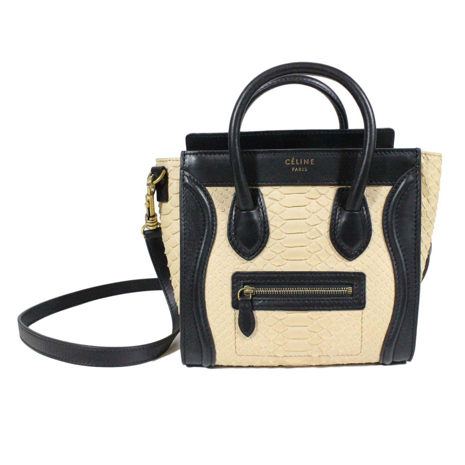 Céline Nano Luge Python Handbags Leather Exotic Other Ref 24616