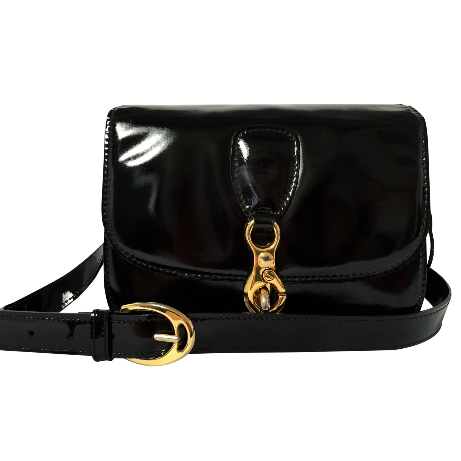 b9cda75b01 Céline Handbag Handbags Patent leather Black ref.24784 - Joli Closet