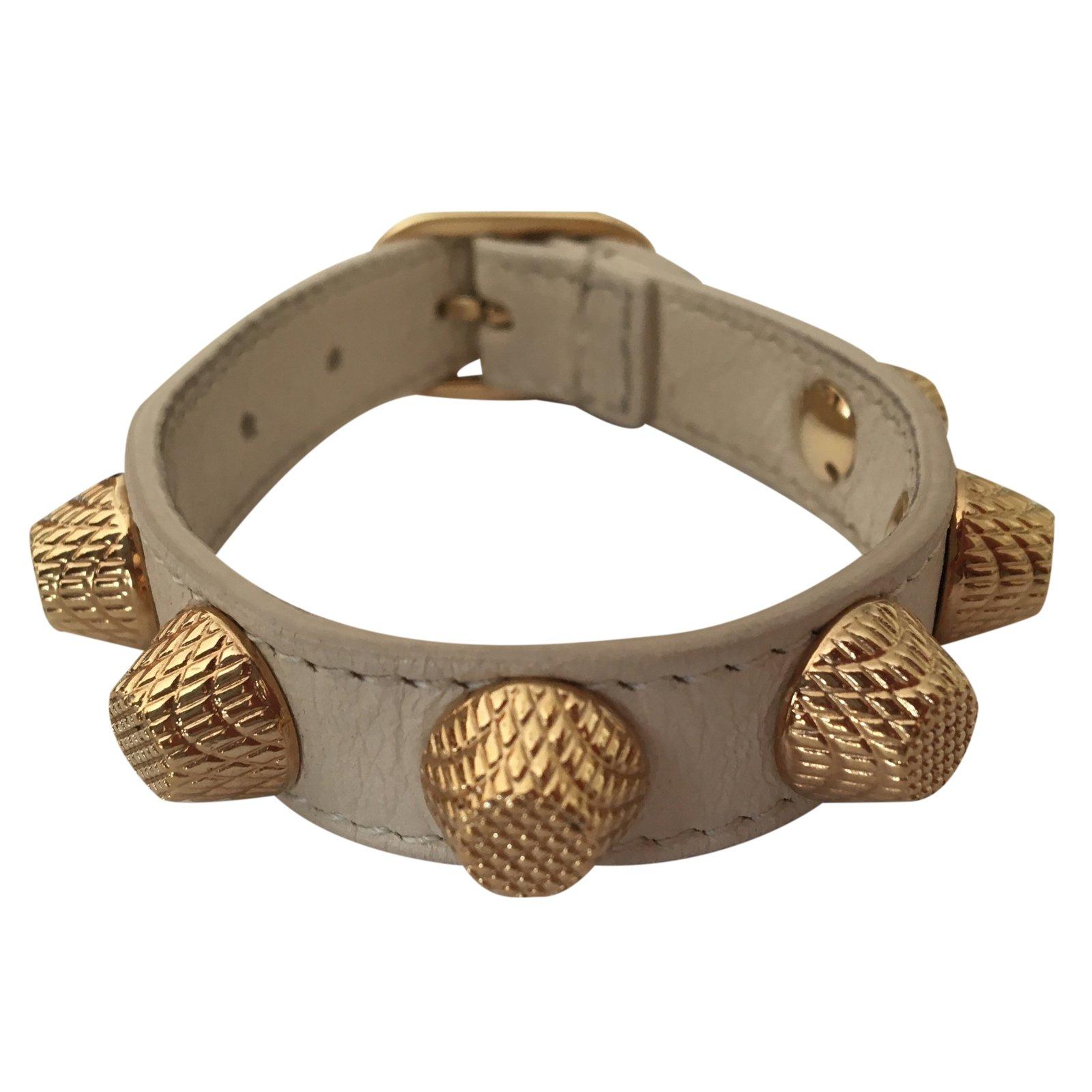 Balenciaga Bracelet Bracelets Leather Beige Ref 24807