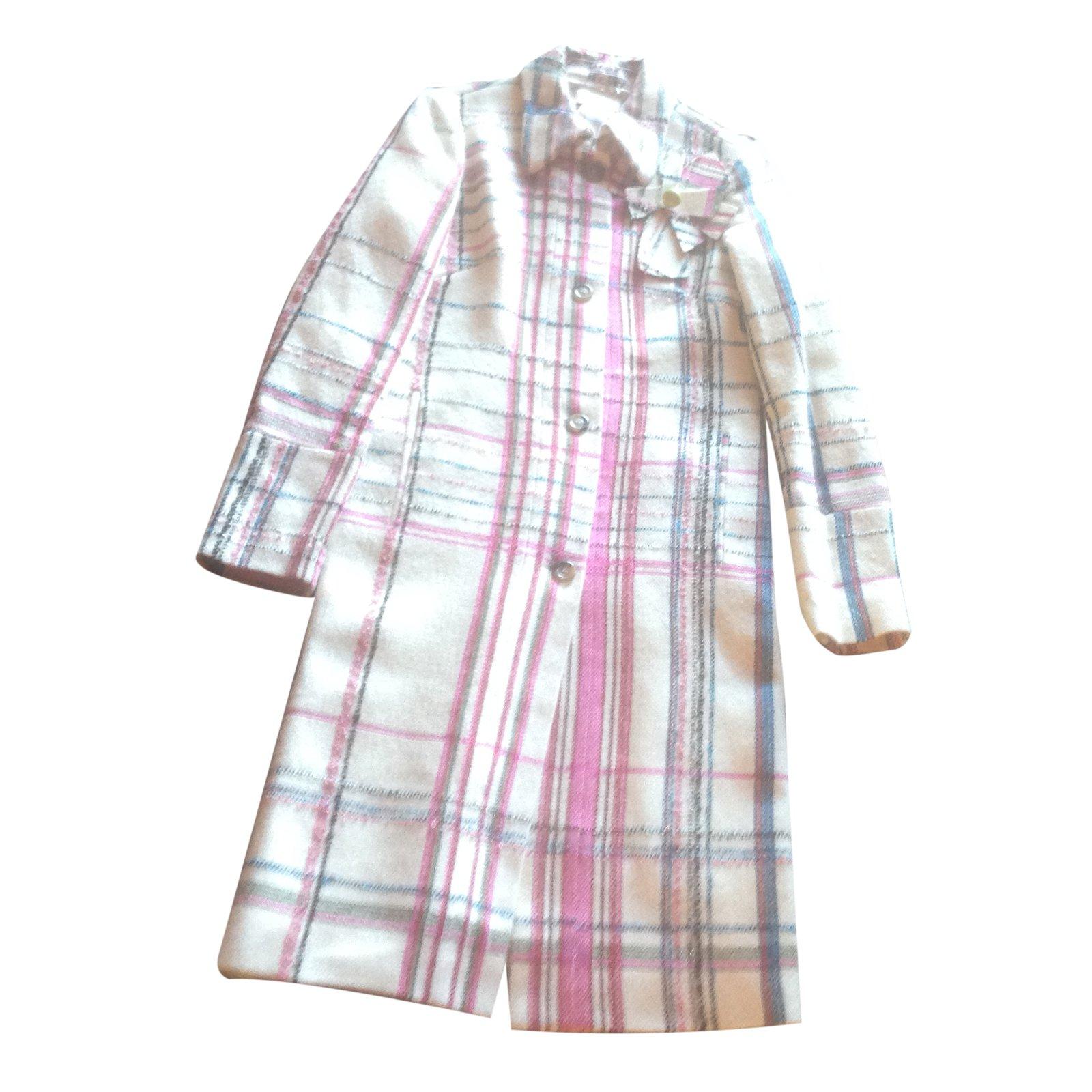 manteaux christian lacroix manteau laine multicolore ref.25182