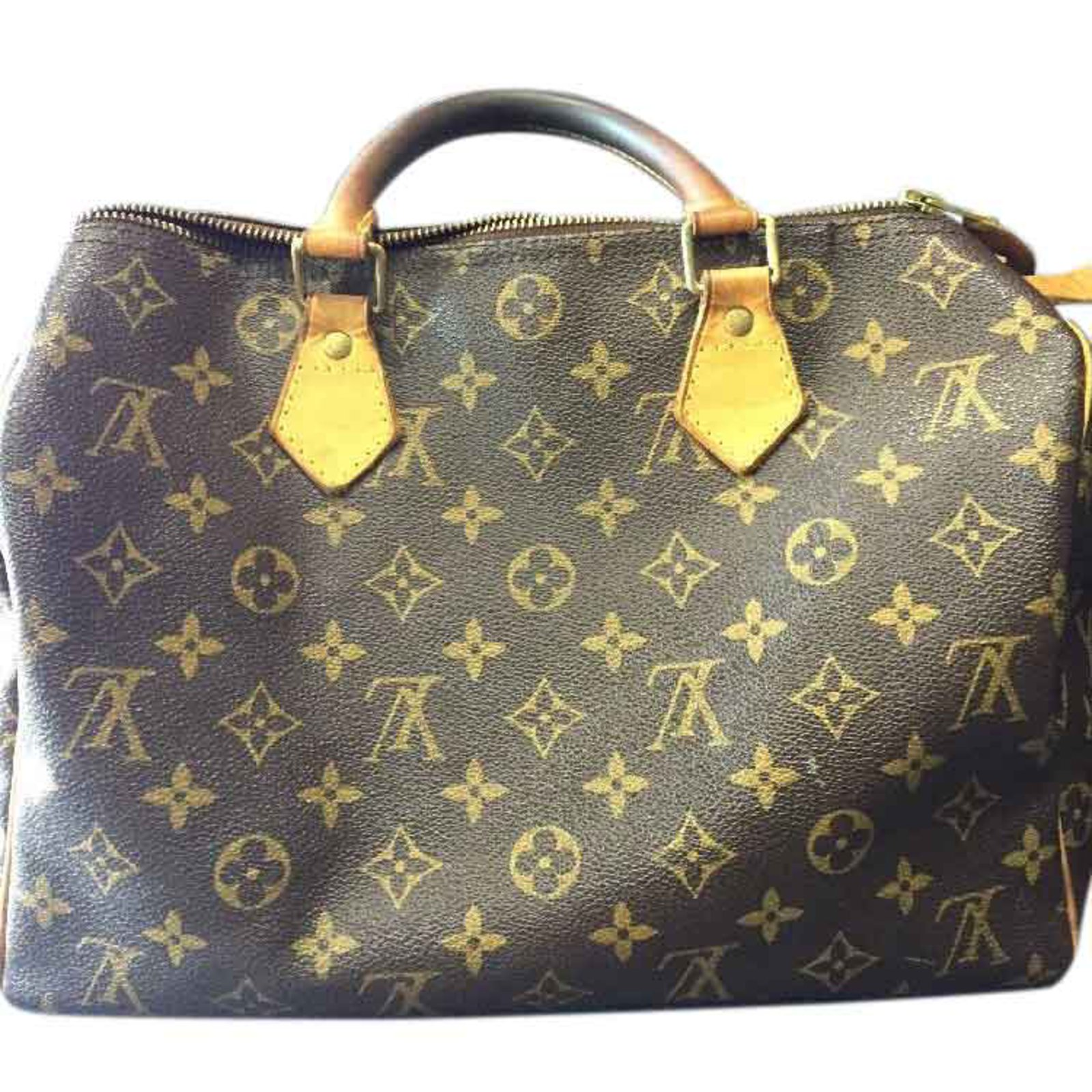 277468ae2c3d Sacs à main Louis Vuitton Speedy 35 Toile Marron ref.25600 - Joli Closet