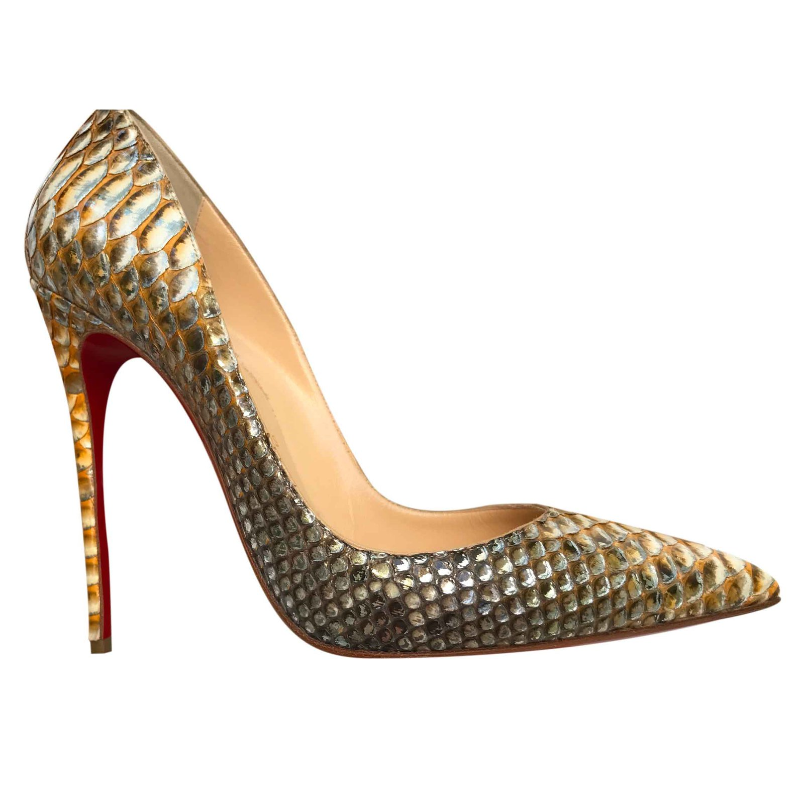 d03a6879d580 Christian Louboutin So Kate Tropicana Heels Exotic leather Python print  ref.26024