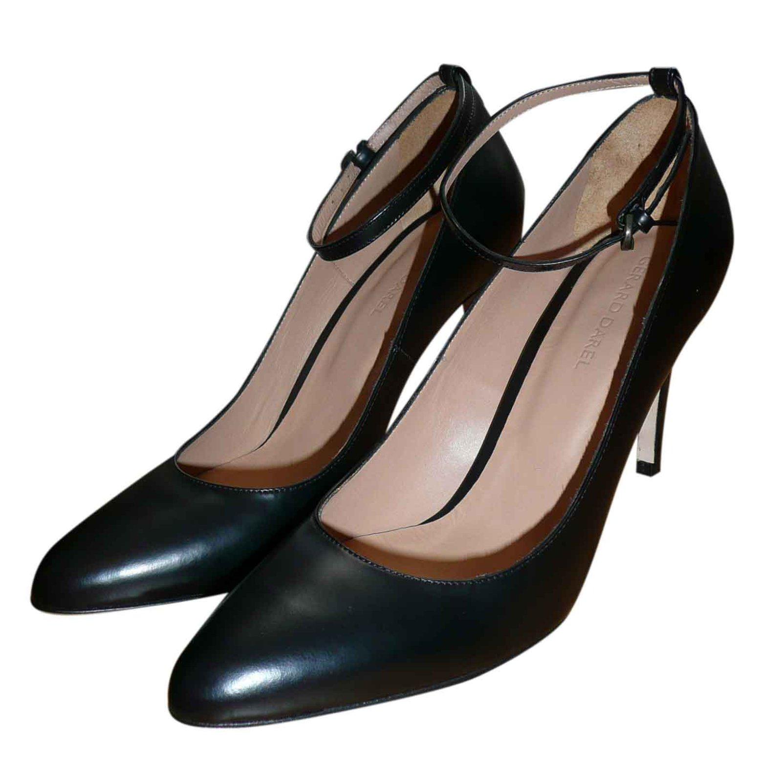 escarpins gerard darel escarpins cuir noir. Black Bedroom Furniture Sets. Home Design Ideas