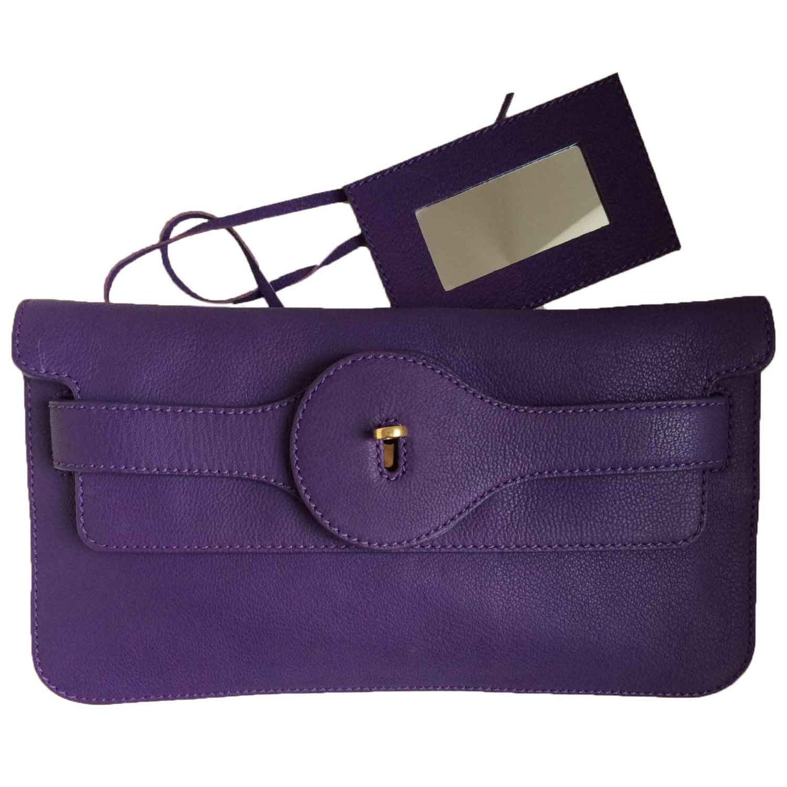 pochettes balenciaga pochette en cuir violet cuir violet. Black Bedroom Furniture Sets. Home Design Ideas